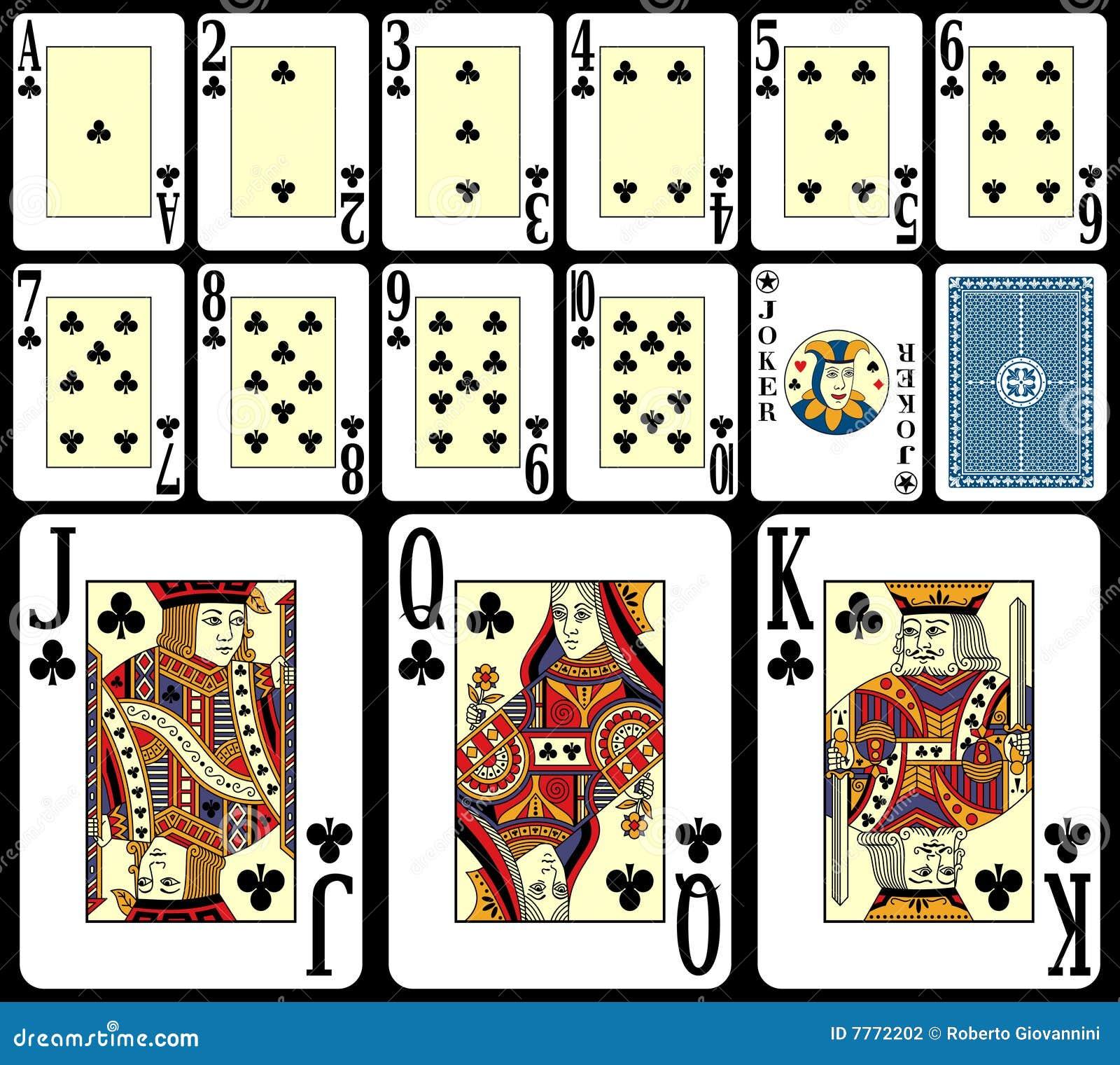 Spielkarten Werte