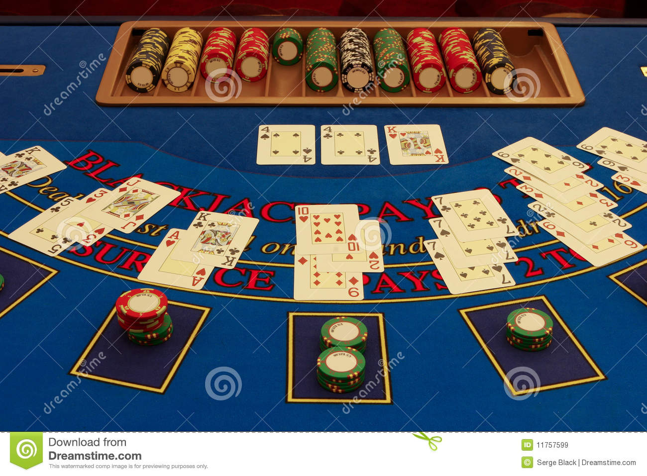 Virtual blackjack table - Blackjack Table In Casino With Cards
