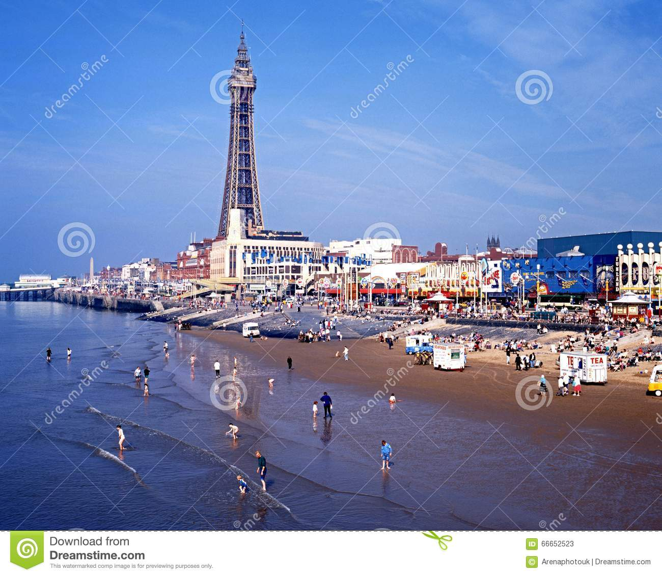 Blackpool tower pleasure beach