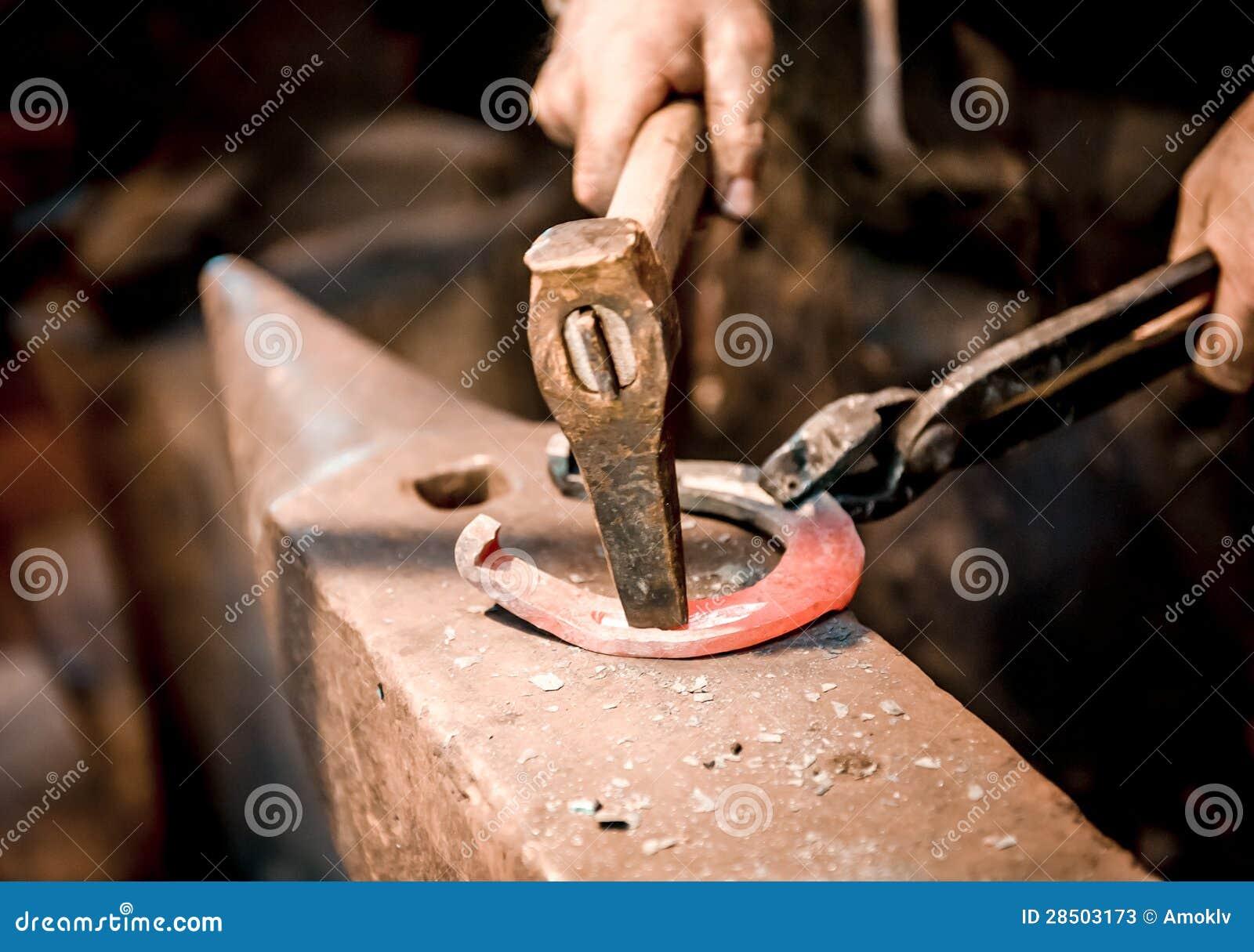 Blacksmith make a horseshoe stock image image of forging for How to make a horseshoe