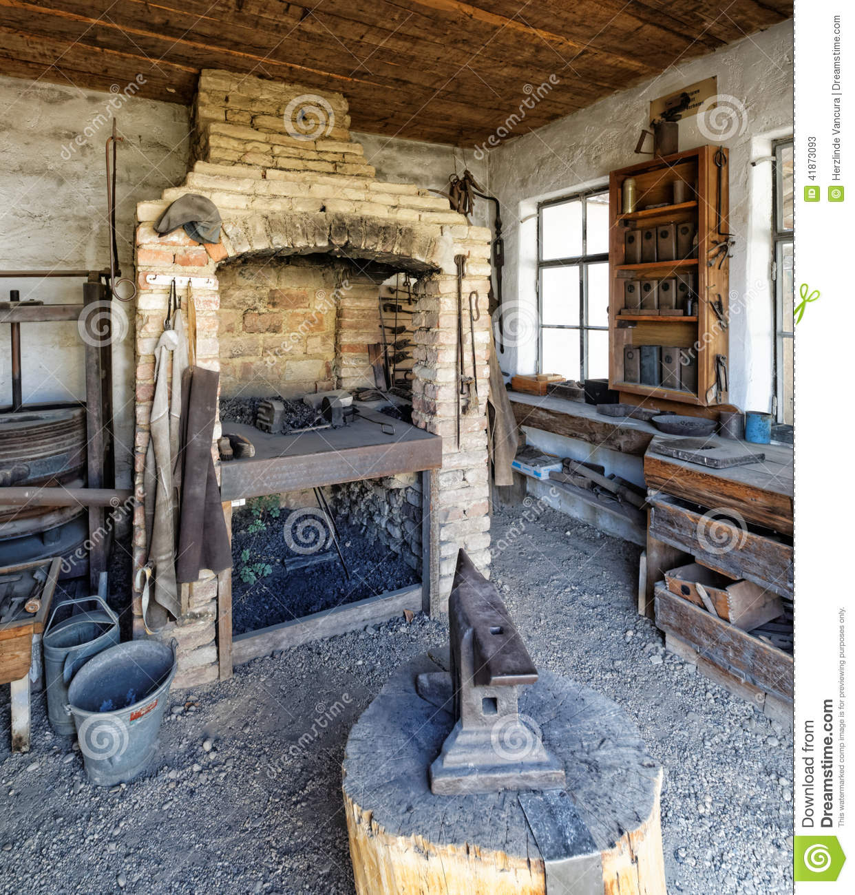 Blacksmith S Workshop And Forge Stock Photo Image 41873093