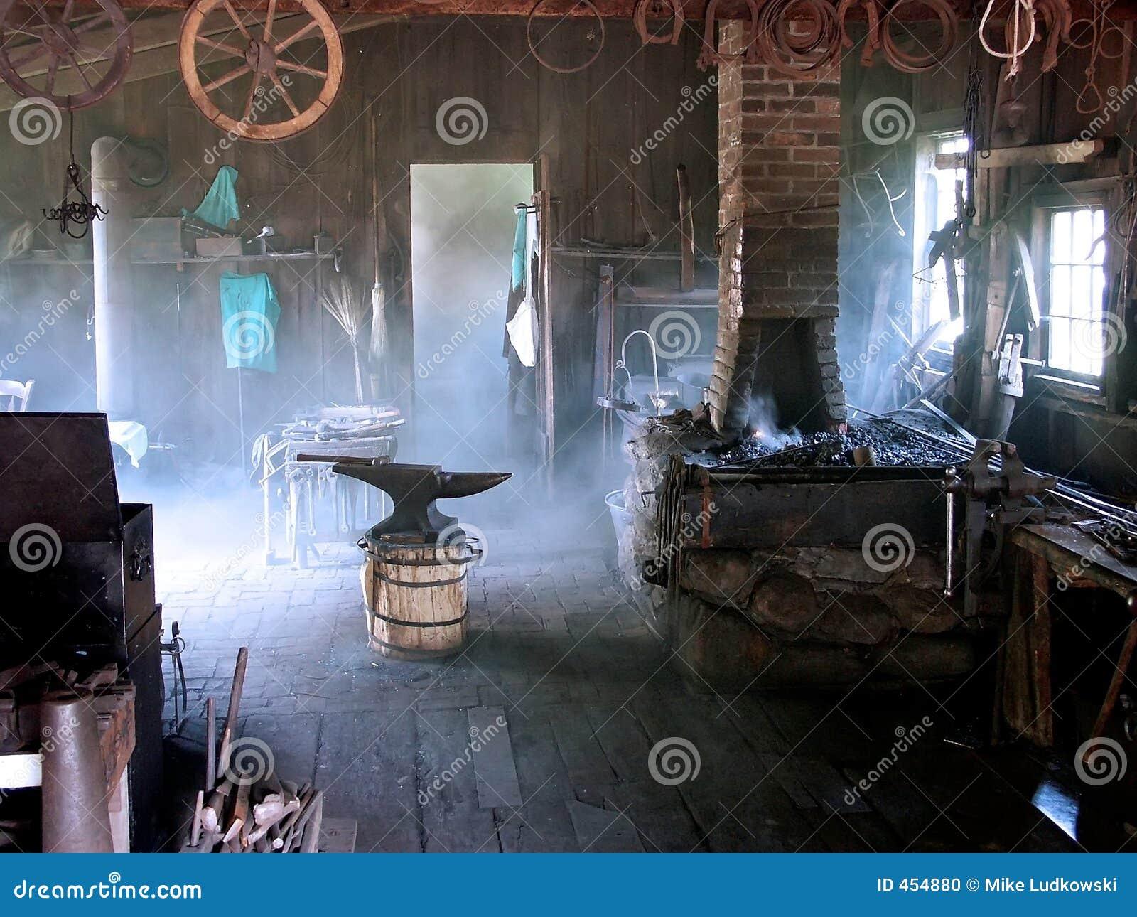 Blacksmith Shop Stock Photo Image Of Trade Bkacksmith