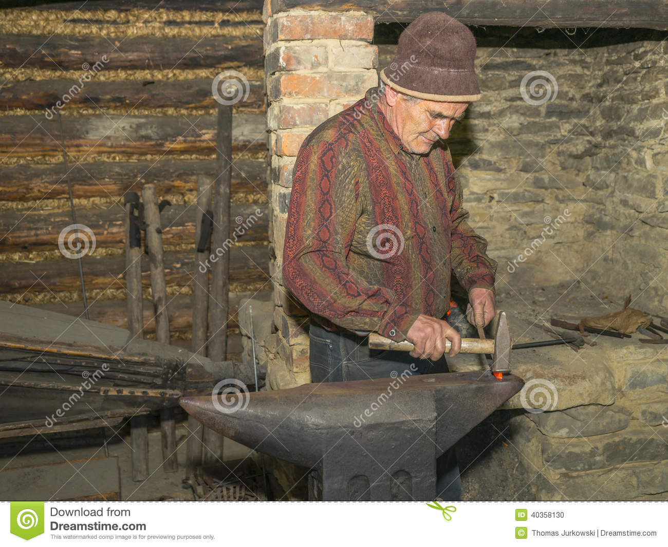 Blacksmith at work editorial image image 40358130 for Http wikipedia org wiki