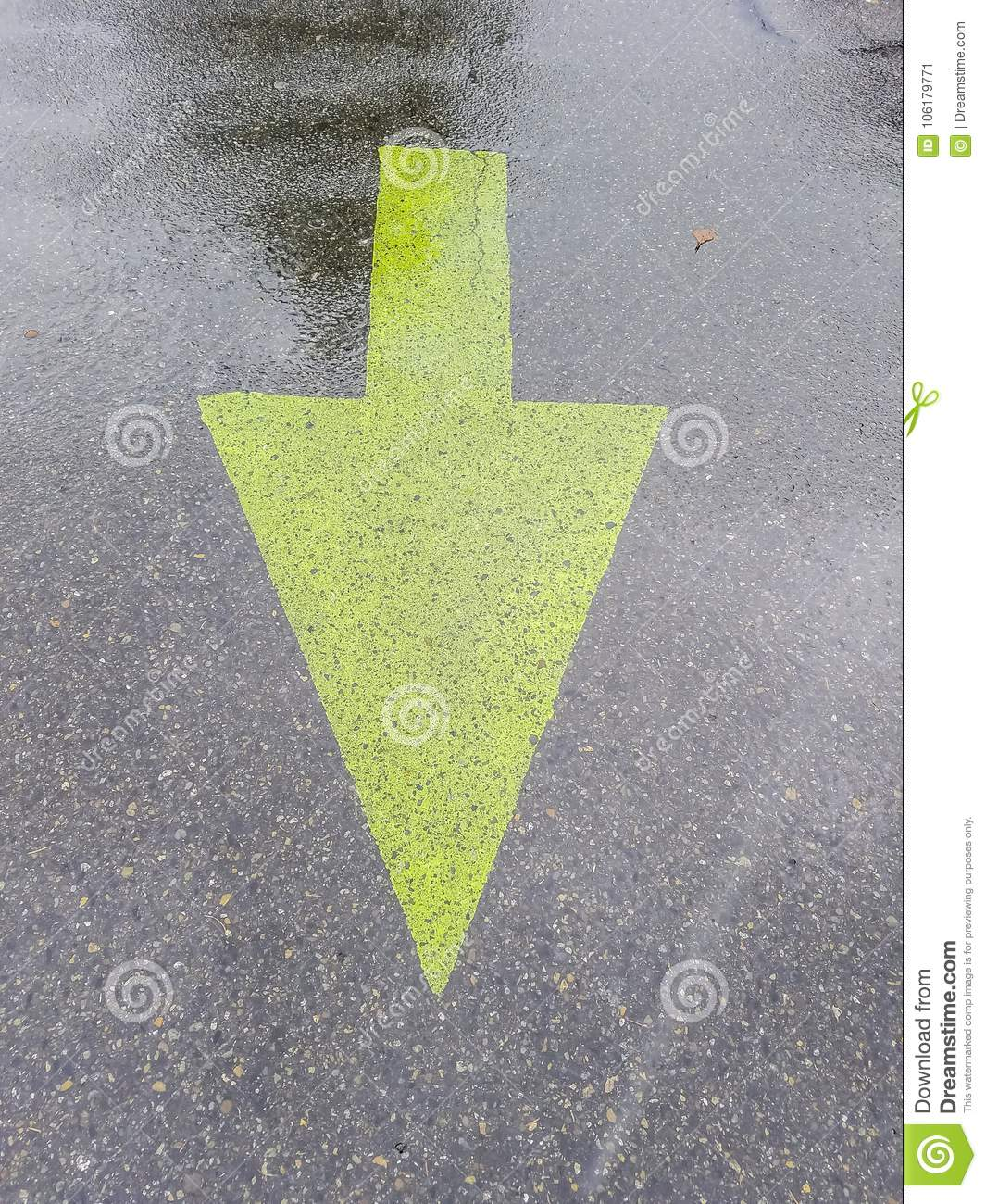 Arrow On Ground Telling Us Where To Go 3 Stock Image - Image