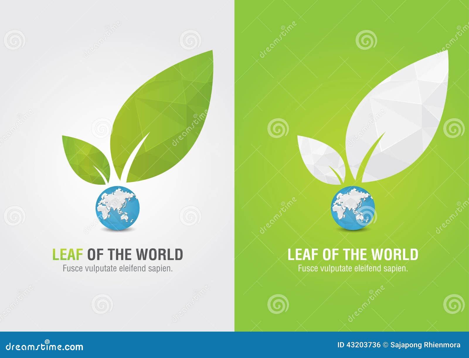 Download Blad Av Världen Eco Volontärsymbol För Grön Affärssoluti Vektor Illustrationer - Illustration av starkt, green: 43203736