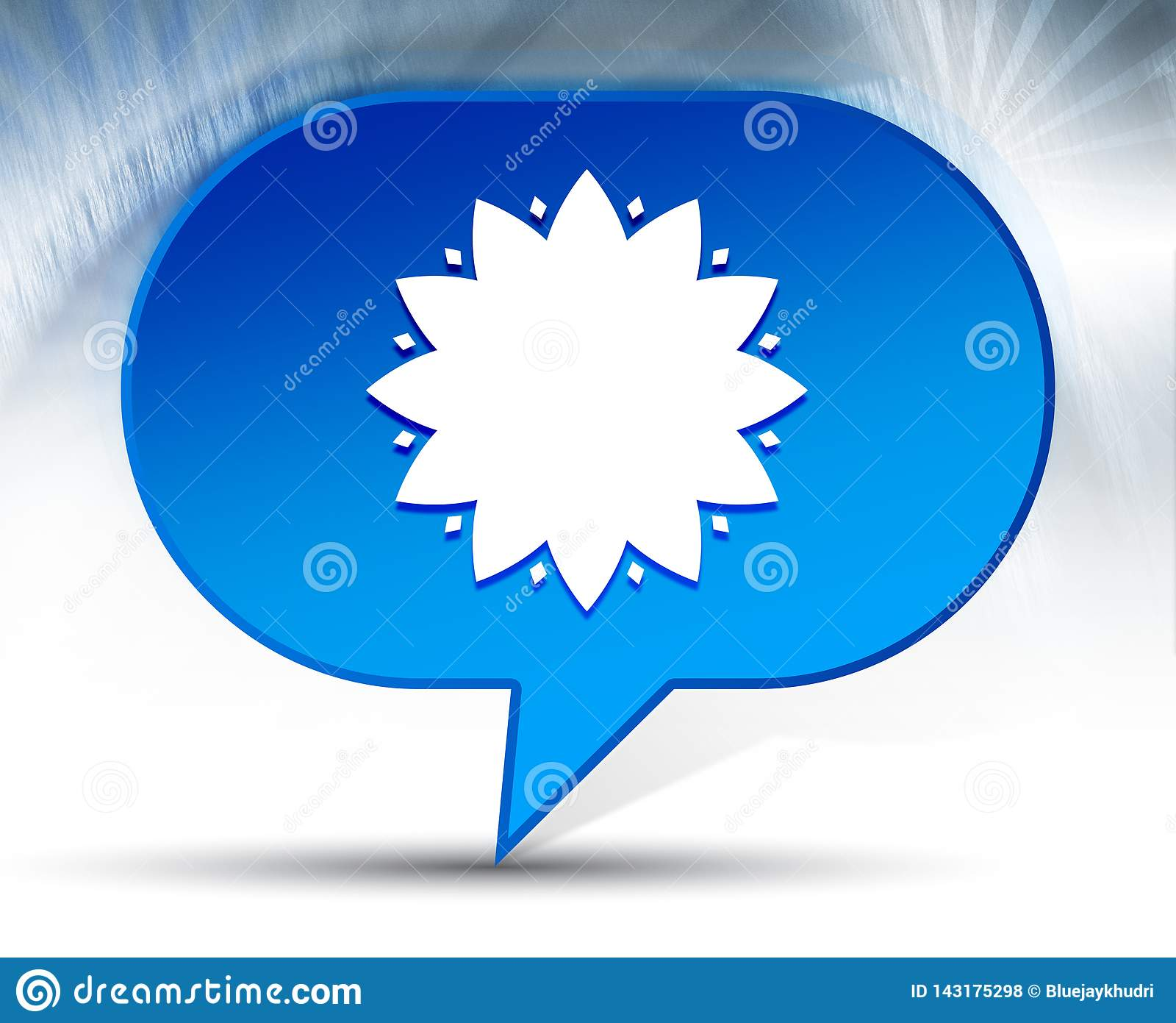 Blad blauwe de bellenachtergrond van het bloempictogram