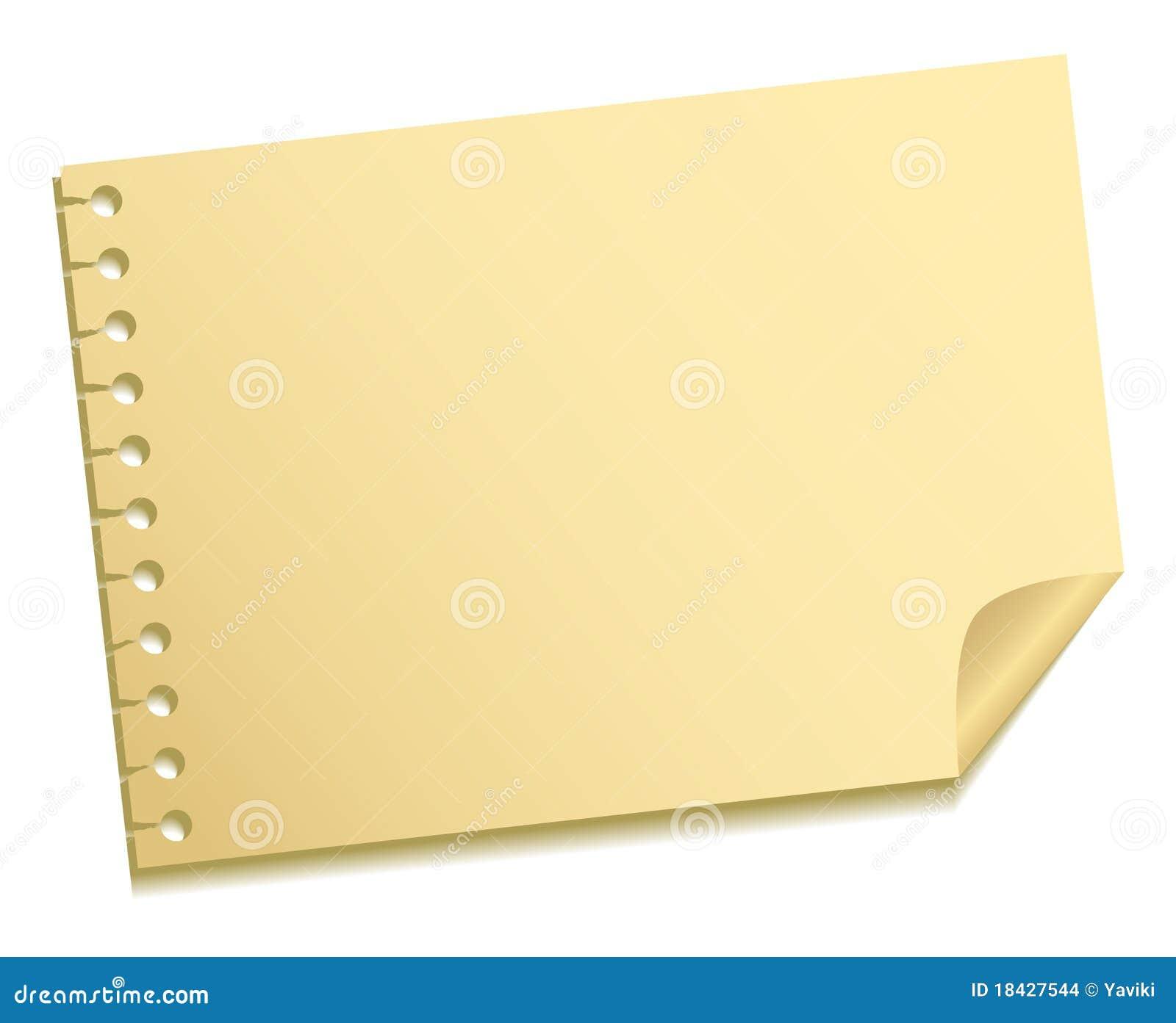 Blad van een nota