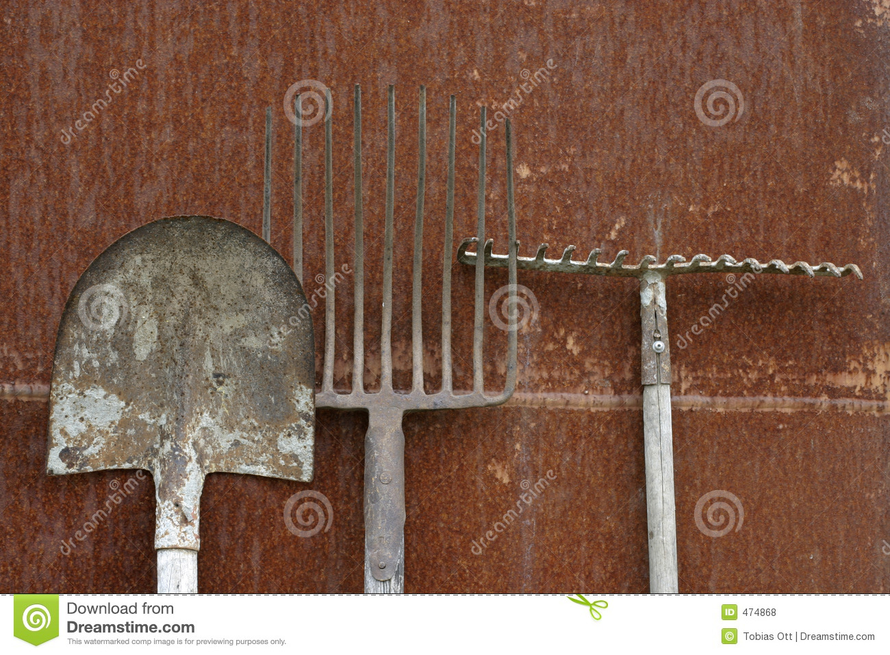 Download Blade, hay-fork and rake stock photo. Image of brown, building - 474868