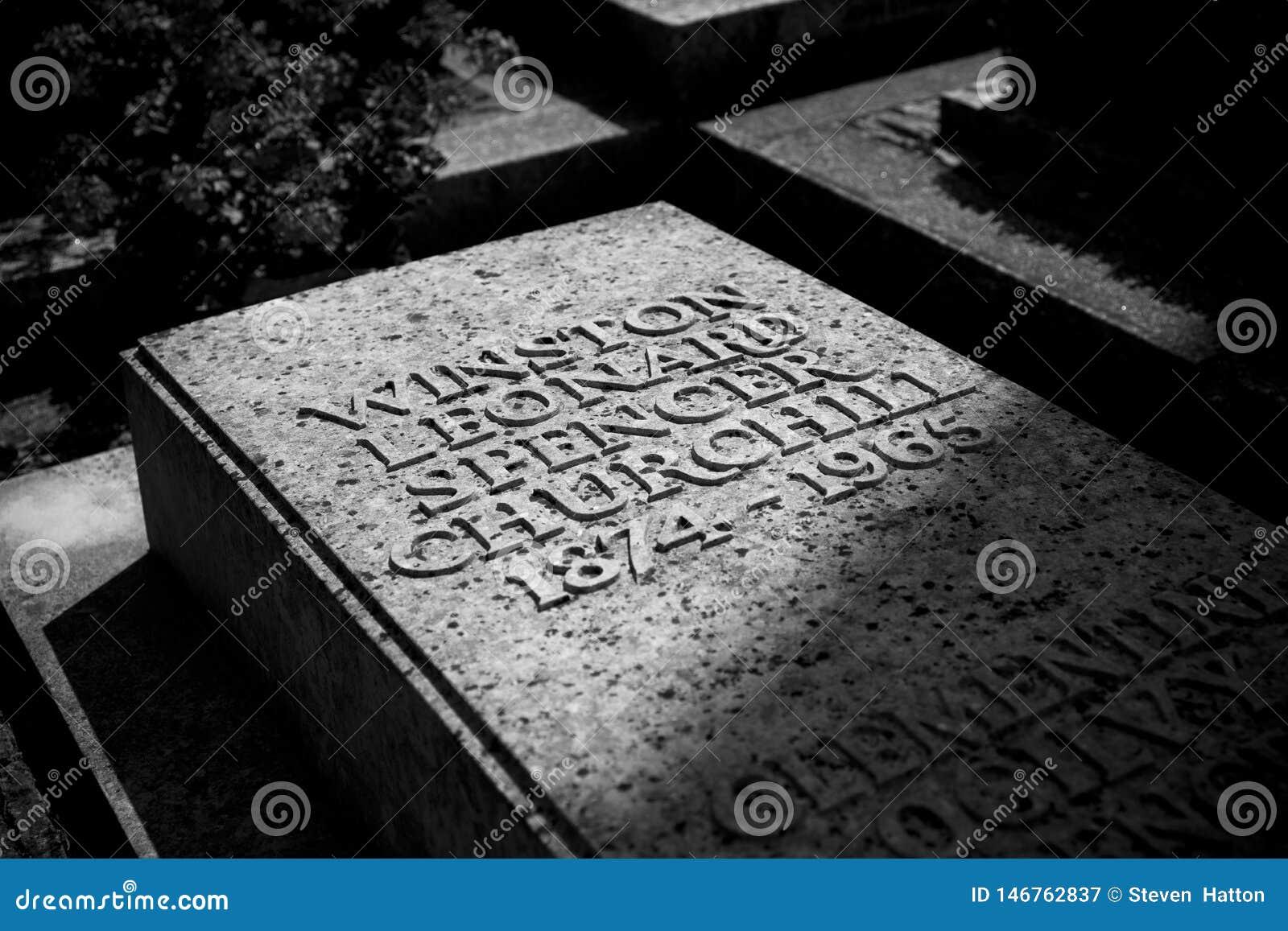 Bladon,伍德斯托克,英国,教会7月2013年,圣Martins温斯顿・丘吉尔先生埋葬地方