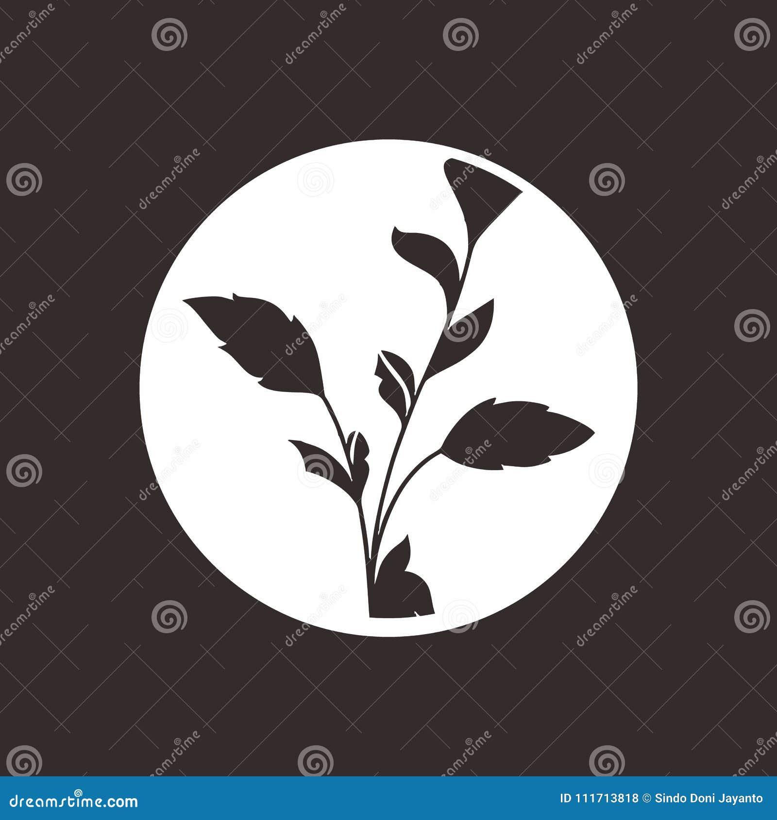 Bladsymbol med svartrundan för branschvitbakgrund