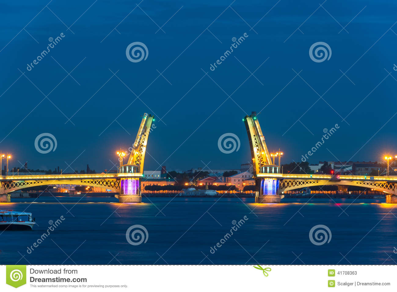 Blagoveshchensky Bridge during the White Nights, St Petersburg