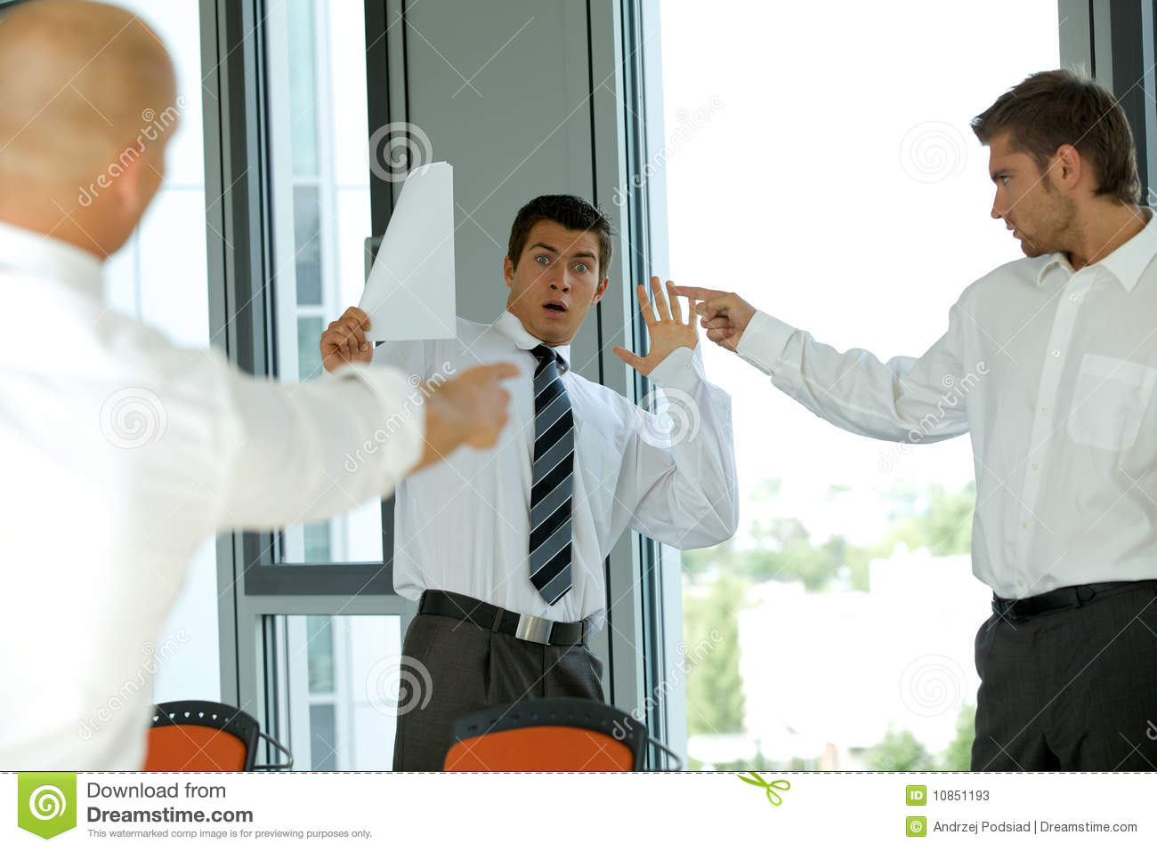 Blaming Colleague Failure Concept Stock Image - Image of