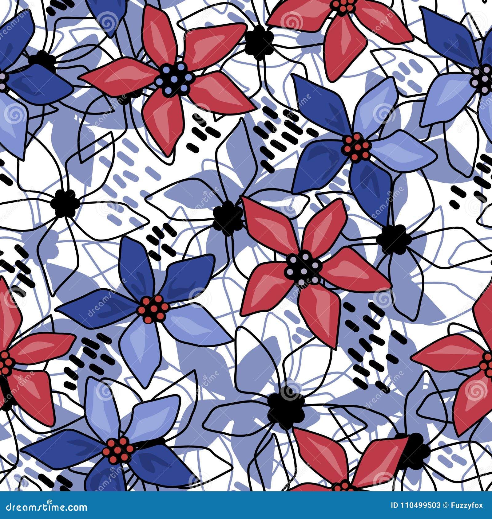 Blanc abstrait floral sans couture de modèle
