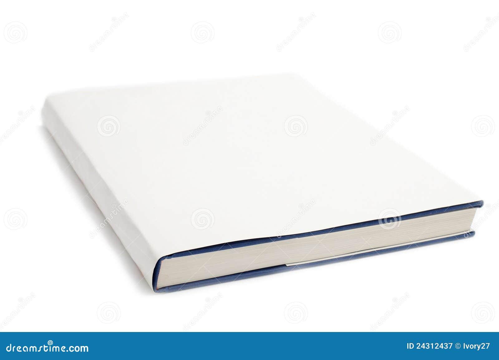 Blanc blanc de cache de livre