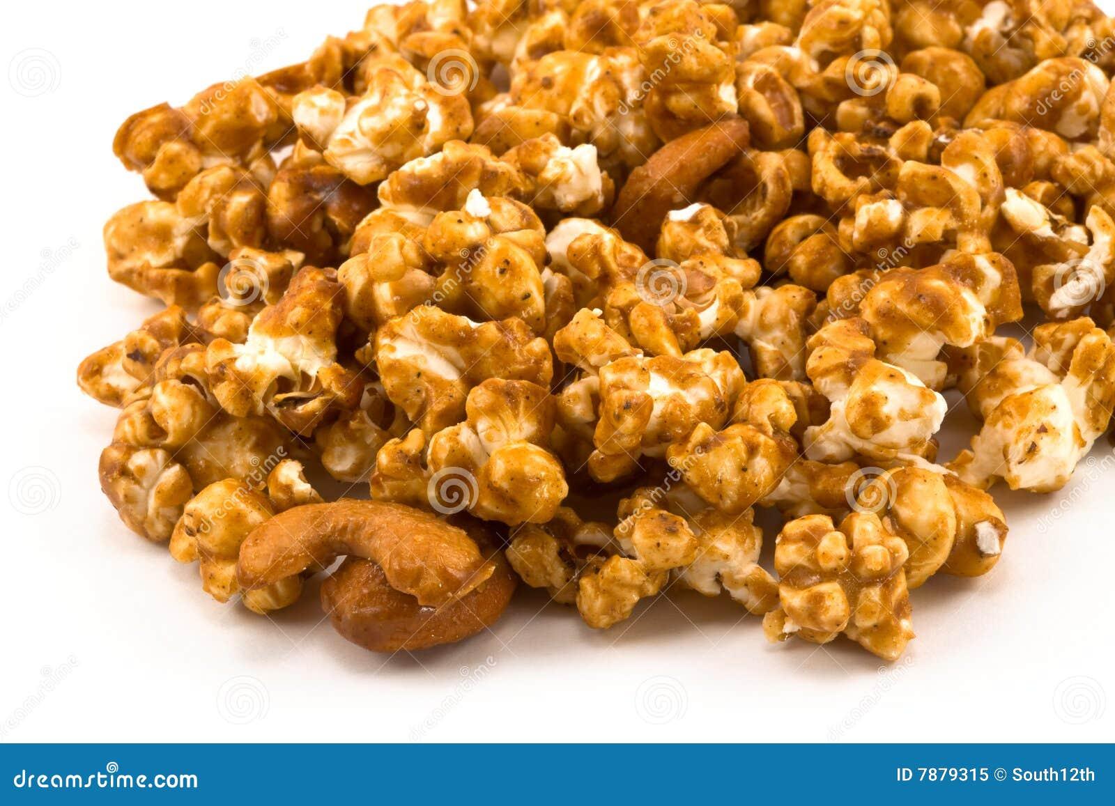 Blanc d or de flaque de maïs de caramel