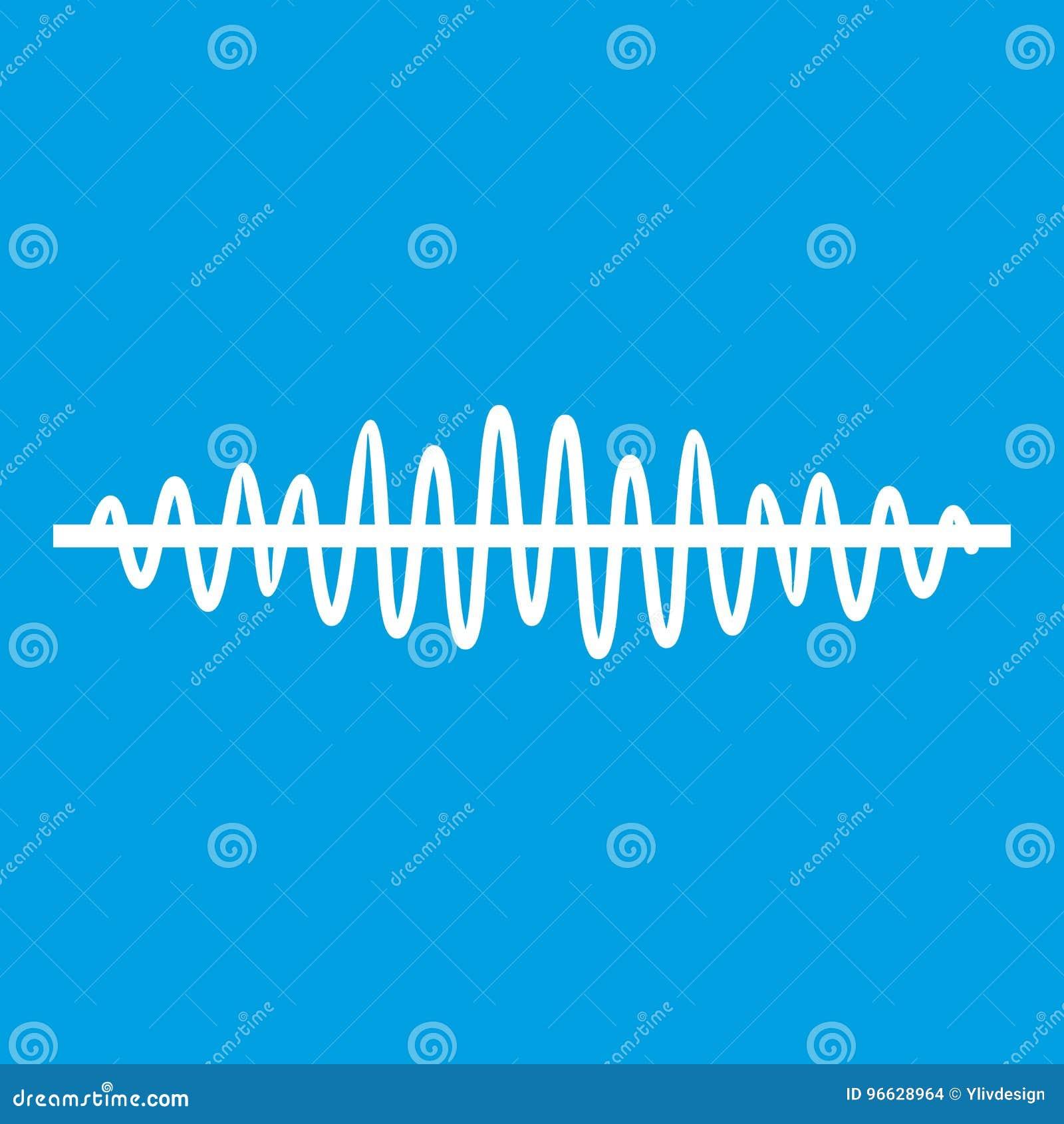 Blanc d icône d onde sonore