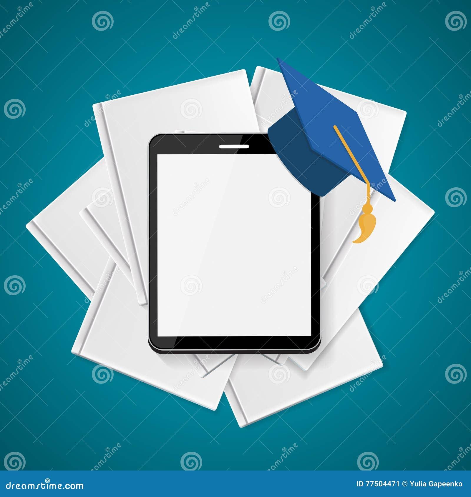 Blanc d isolement par éducation de concept d affaires Tendances et innovation dans l éducation