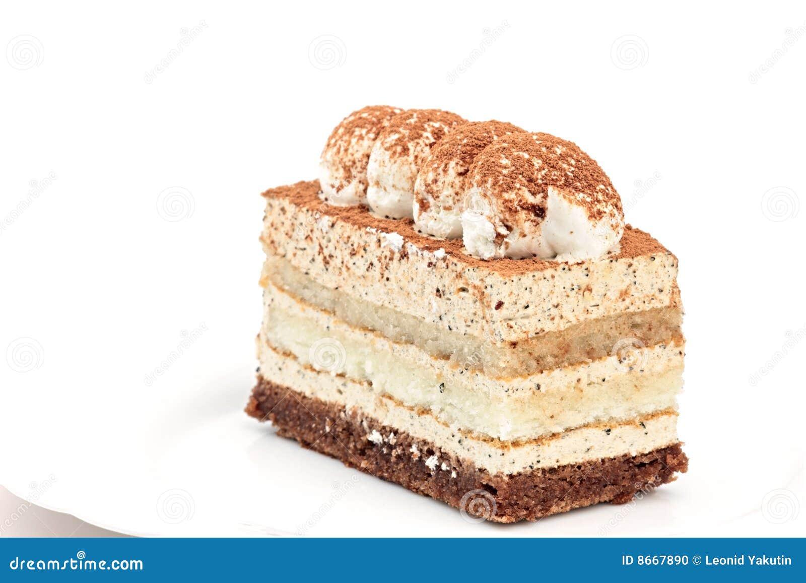 Blanc d isolement par gâteau