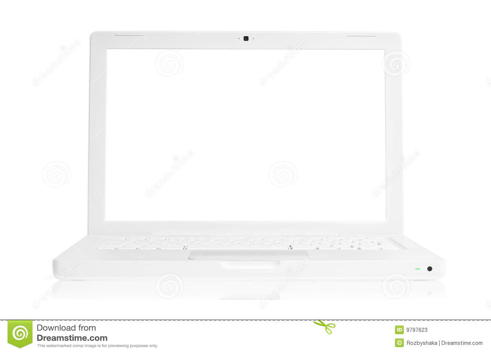Blanc d ordinateur portatif
