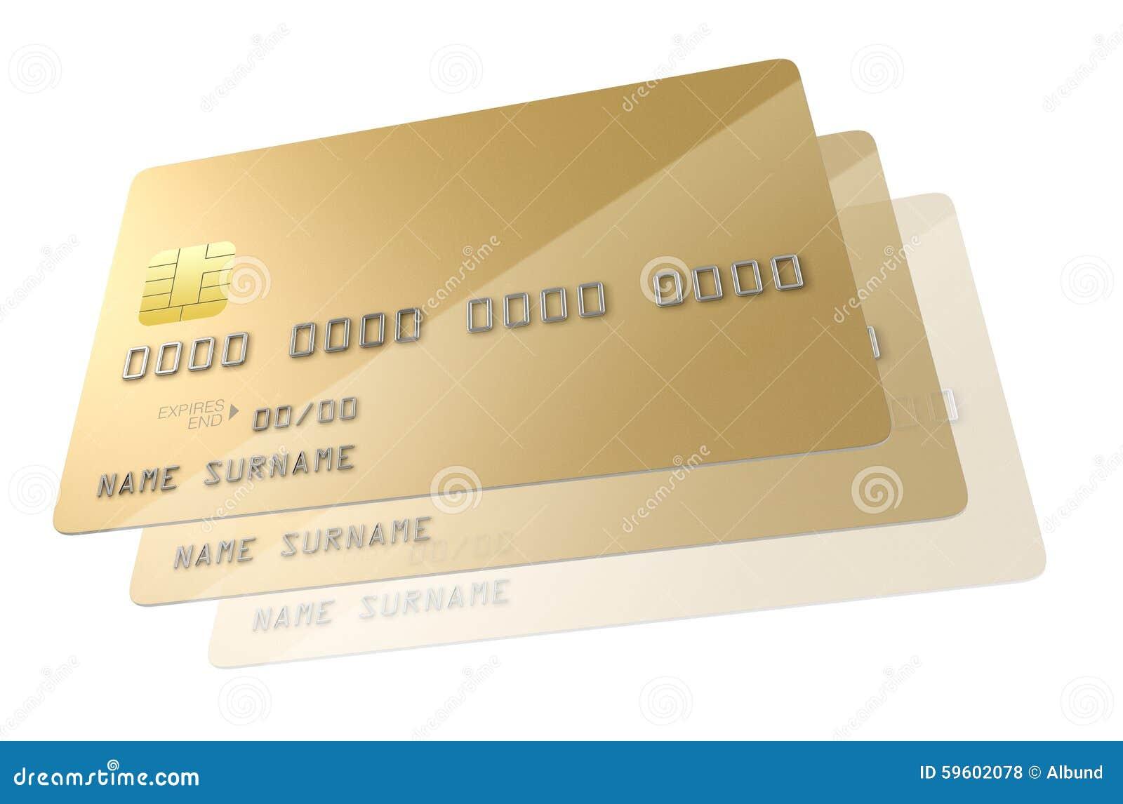 Carte Bancaire Or.Blanc De Carte Bancaire Illustration Stock Illustration Du