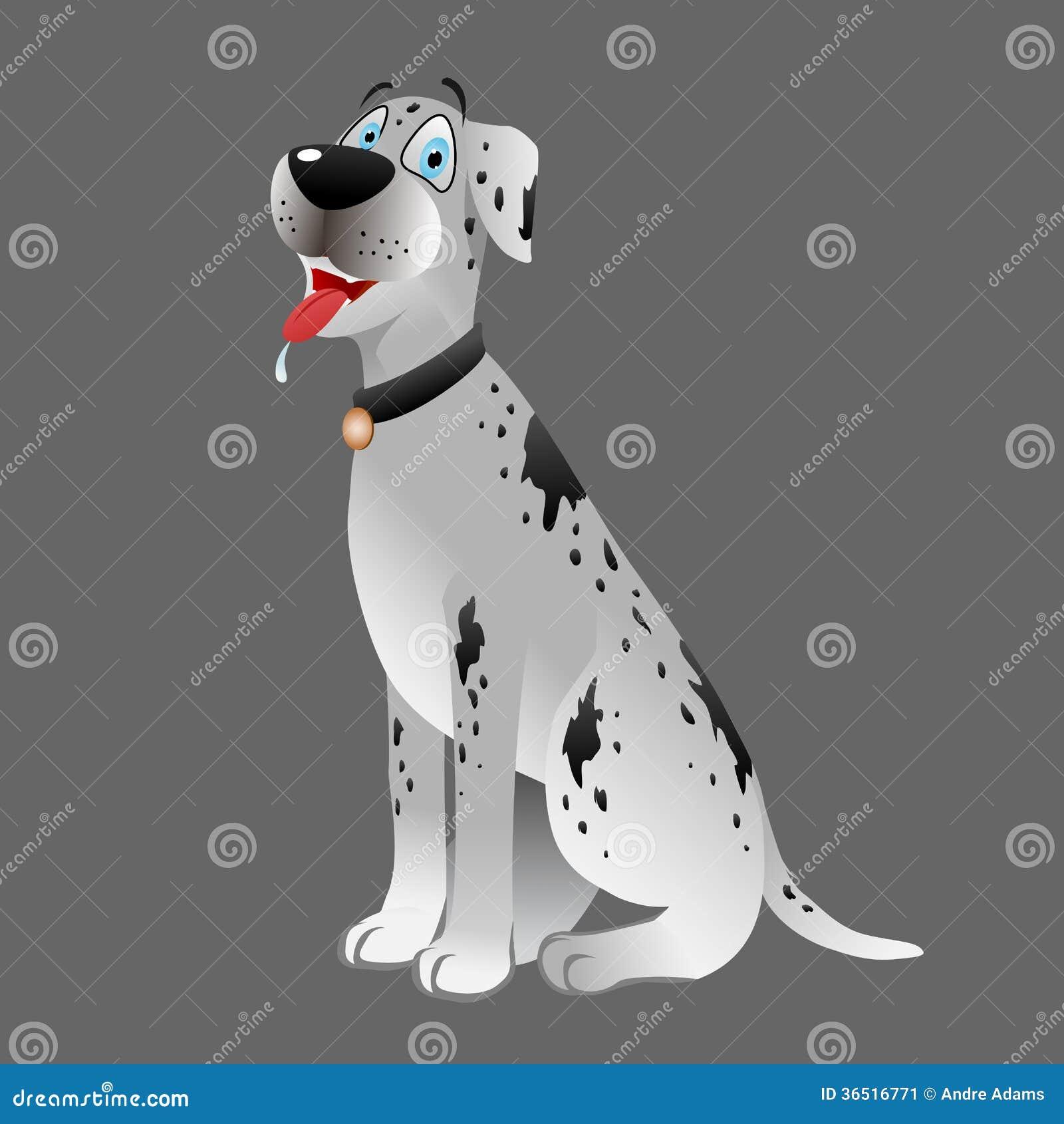 Blanc de great dane de chien reposant 3