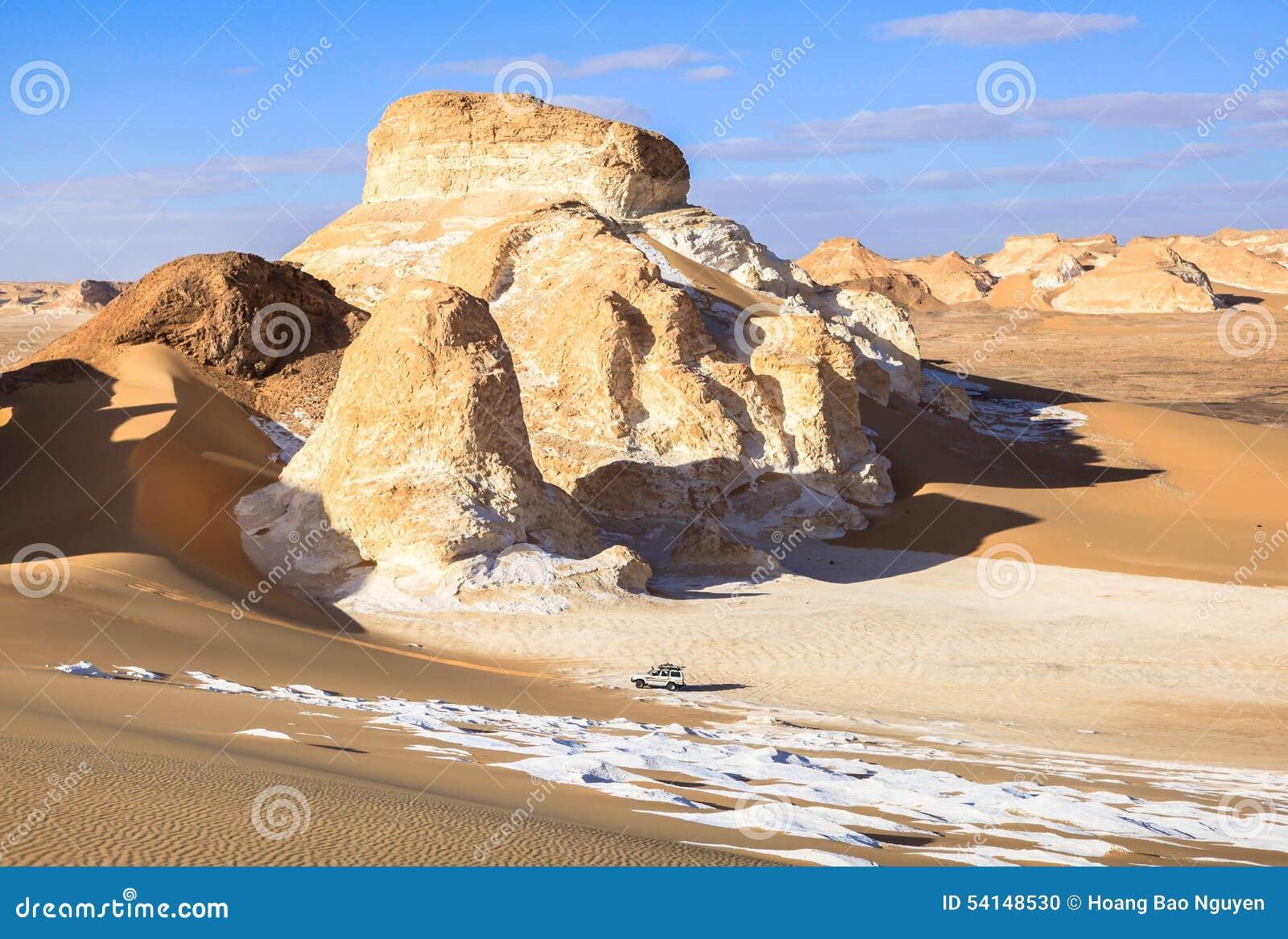 Blanc de l Egypte de désert