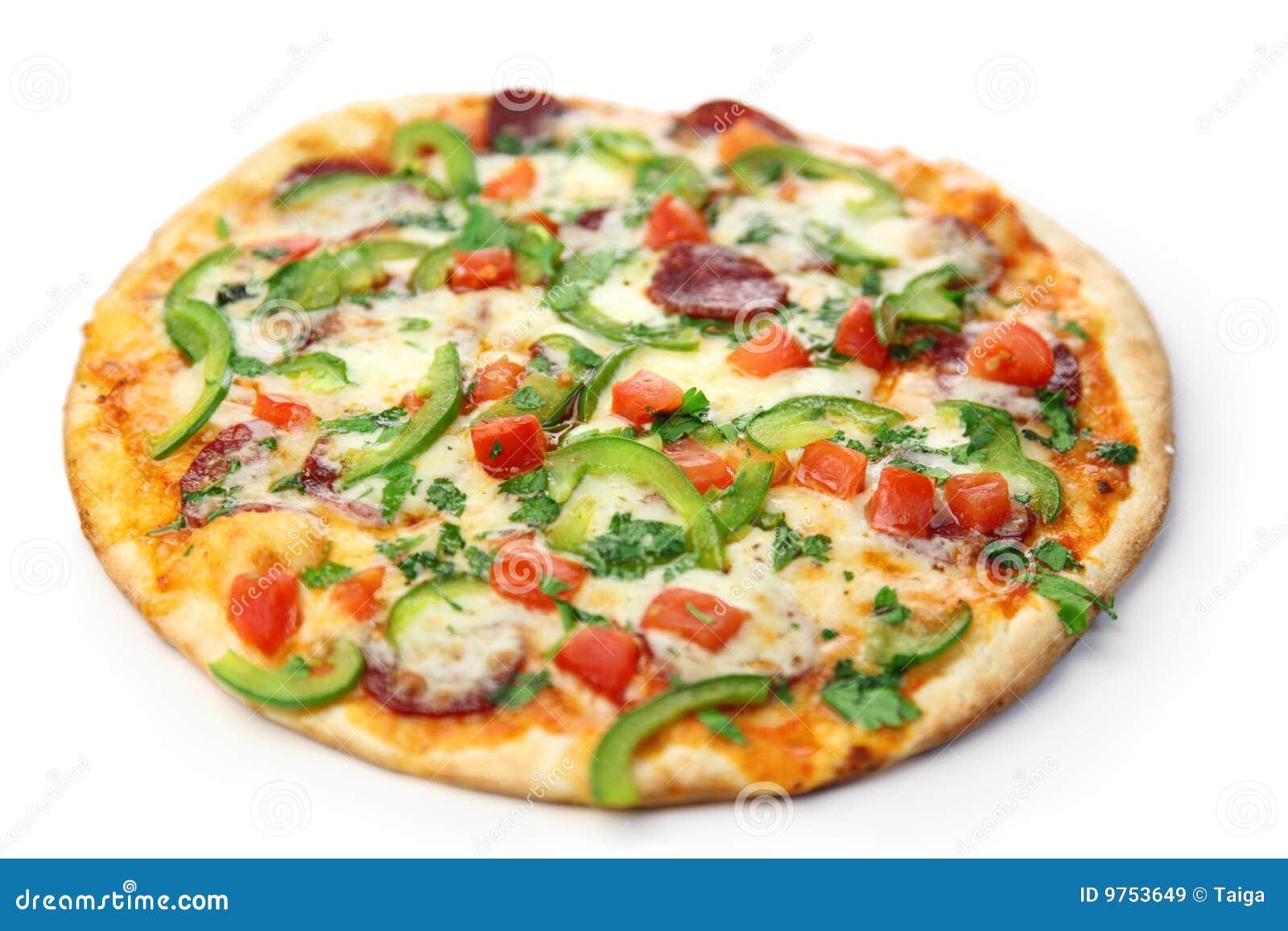 Blanc de pizza de fond