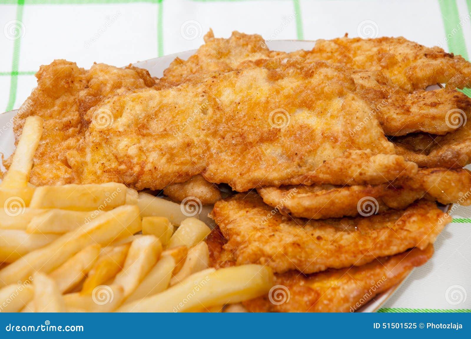 blanc de poulet frit served et pommes frites image stock image du sein nourriture 51501525. Black Bedroom Furniture Sets. Home Design Ideas