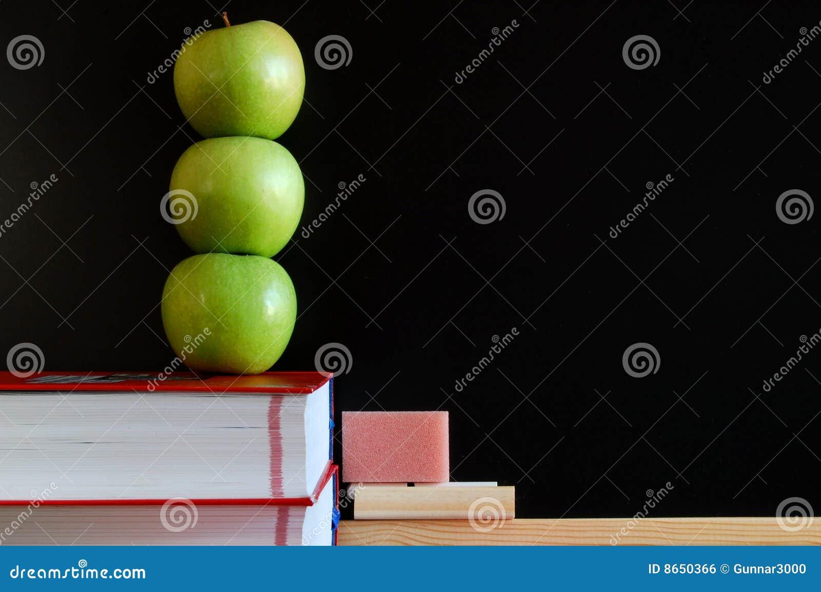 Blanc de tableau noir de pommes