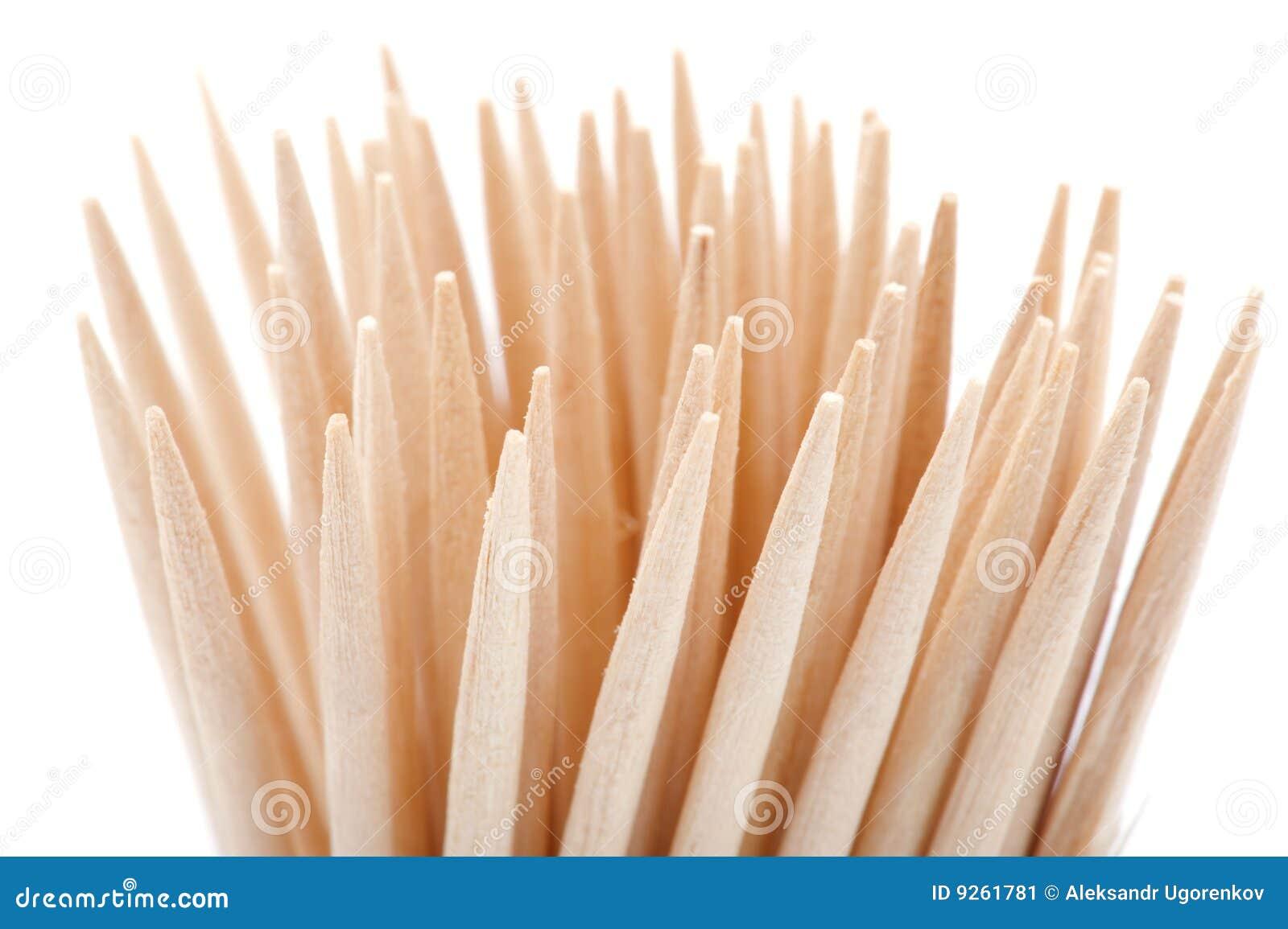 Blanc de toothpick de fond