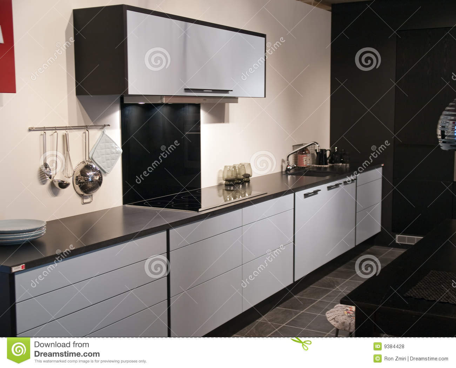 Cuisine noire moderne photos – 902 cuisine noire moderne images ...