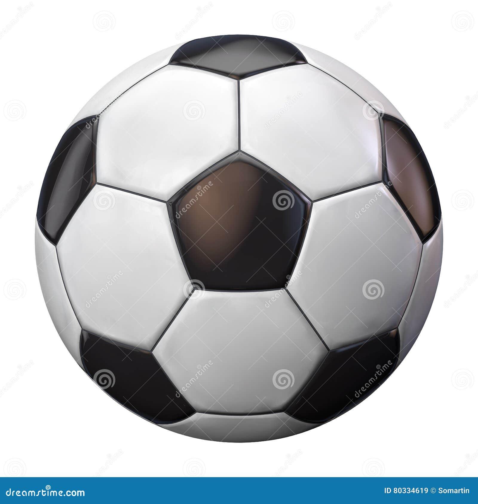 Blanc du football d isolement par bille