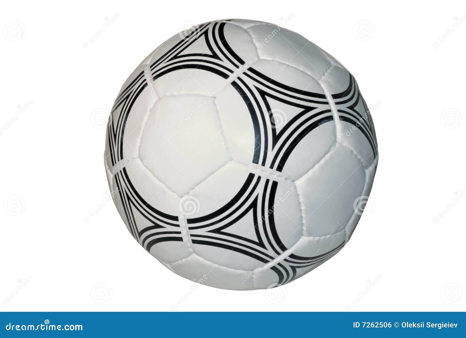 Blanc du football d isolement par bille de fond