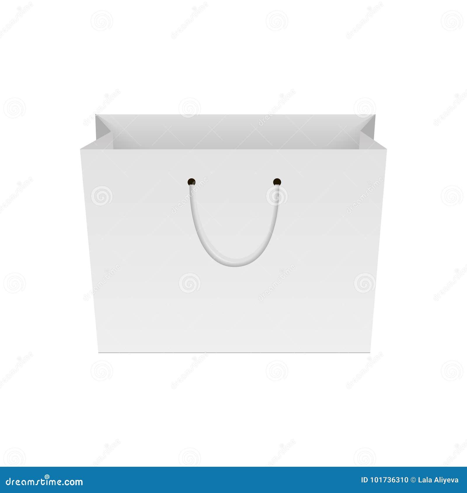 Blanc du panier de papier Moquerie pour votre conception Vecteur