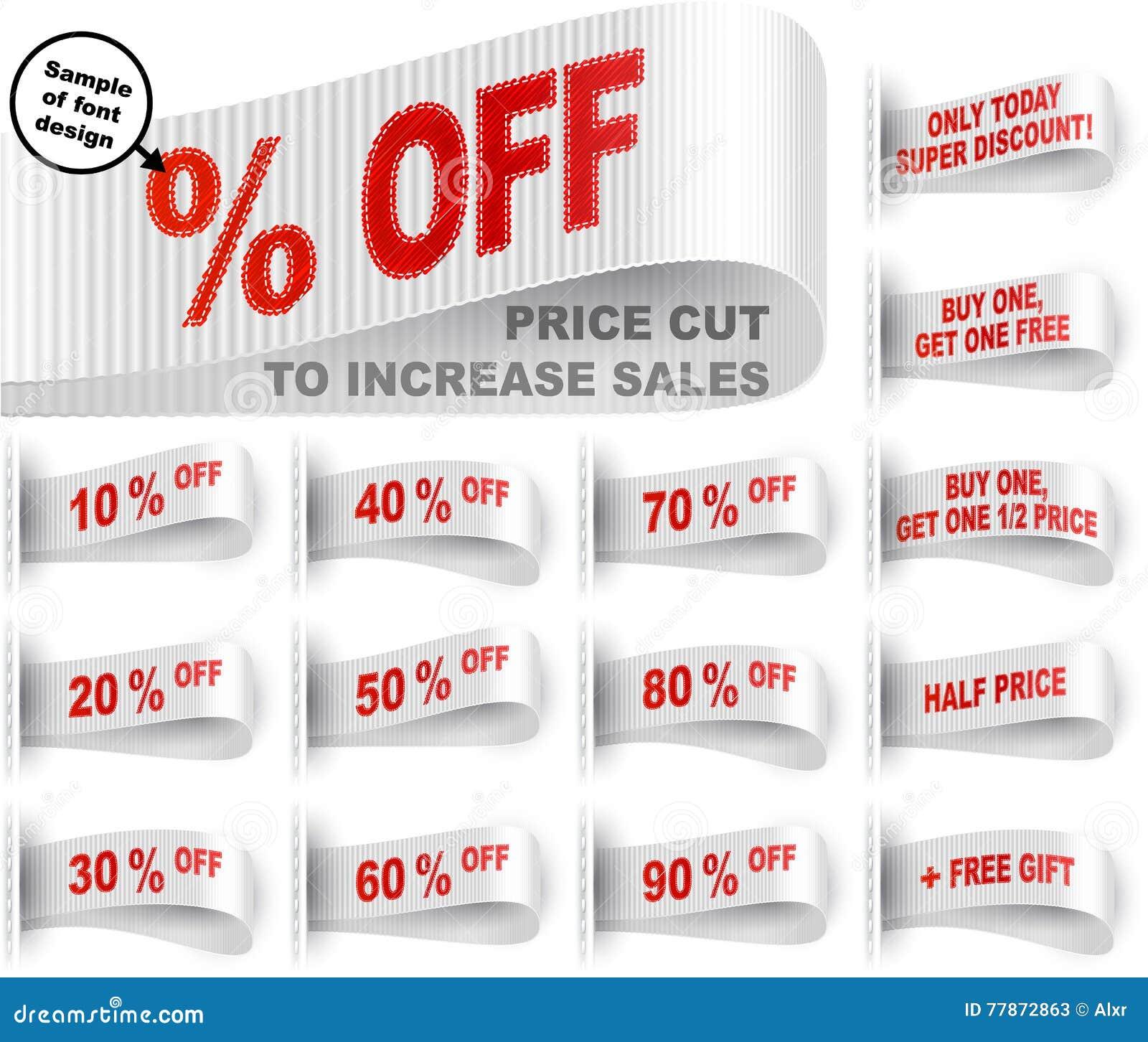 9cb5ee43faecd Labels de vêtements avec le pourcentage des réductions des prix et des  expressions de vente ; Remise aujourd'hui seulement ; Achetez un, obtenez  un cadeau ...