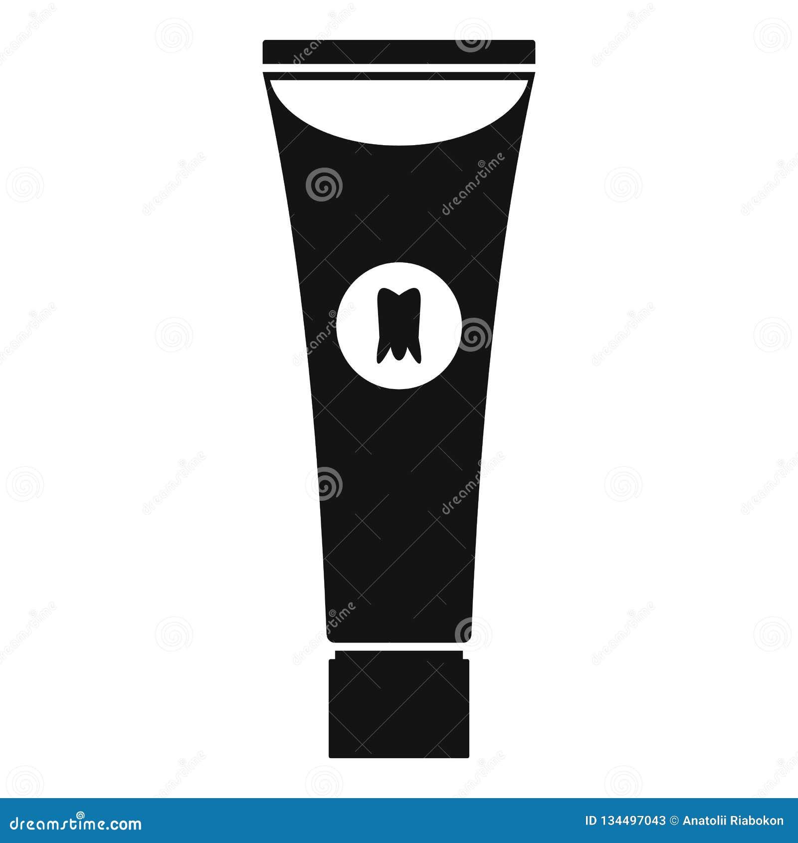 Blanchiment de l icône de pâte dentifrice, style simple