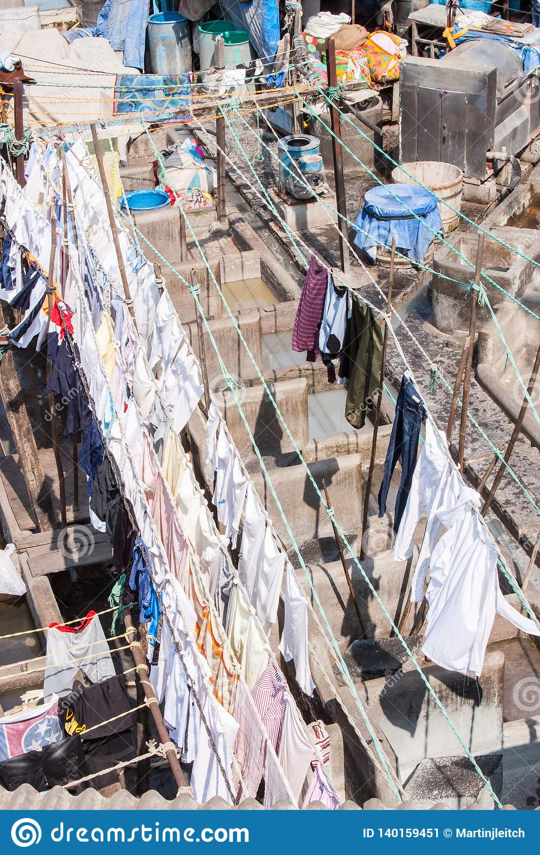 Blanchisserie de Dhobi Ghat dans Mumbai