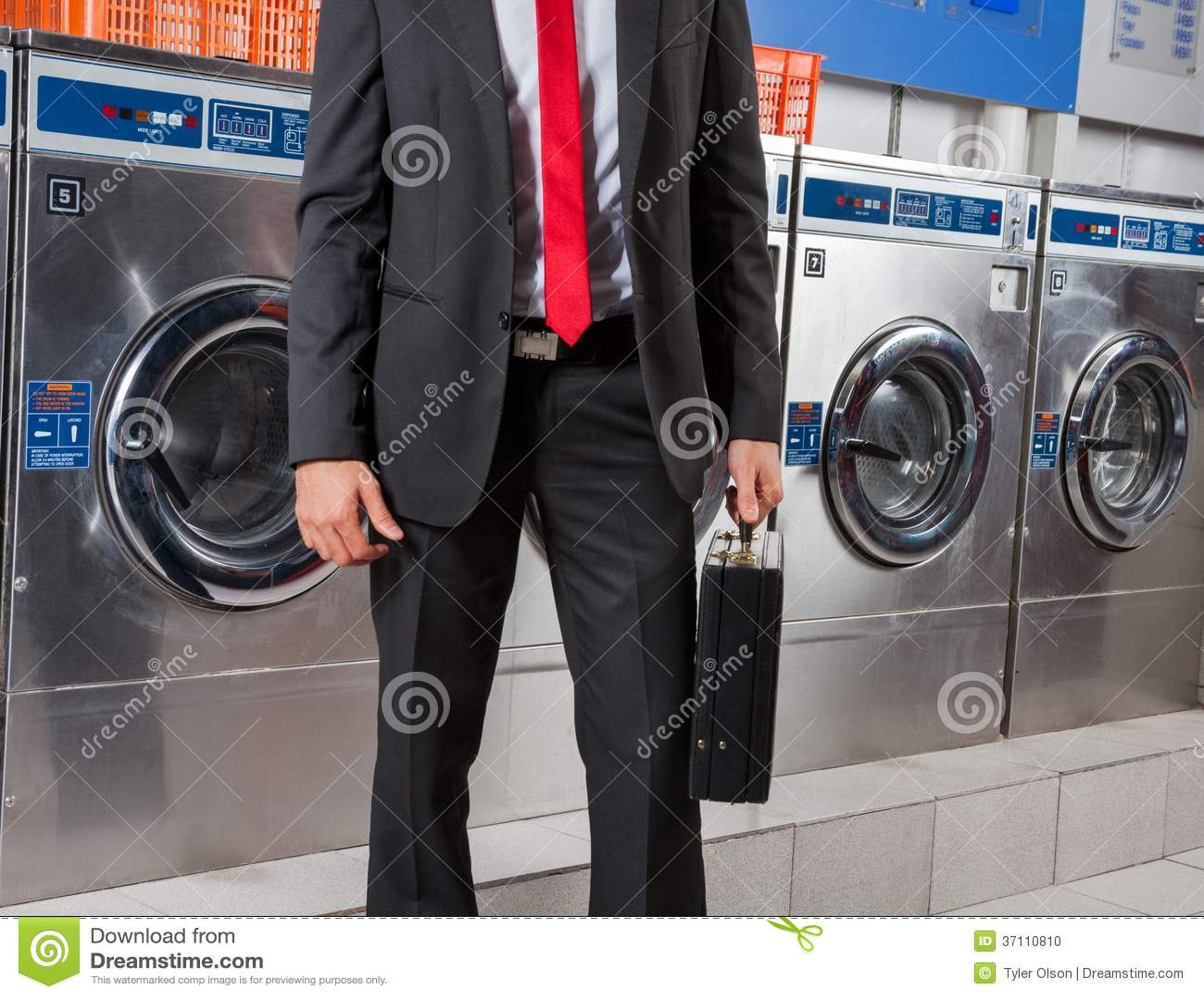 Blanchisserie de Holding Suitcase In d homme d affaires