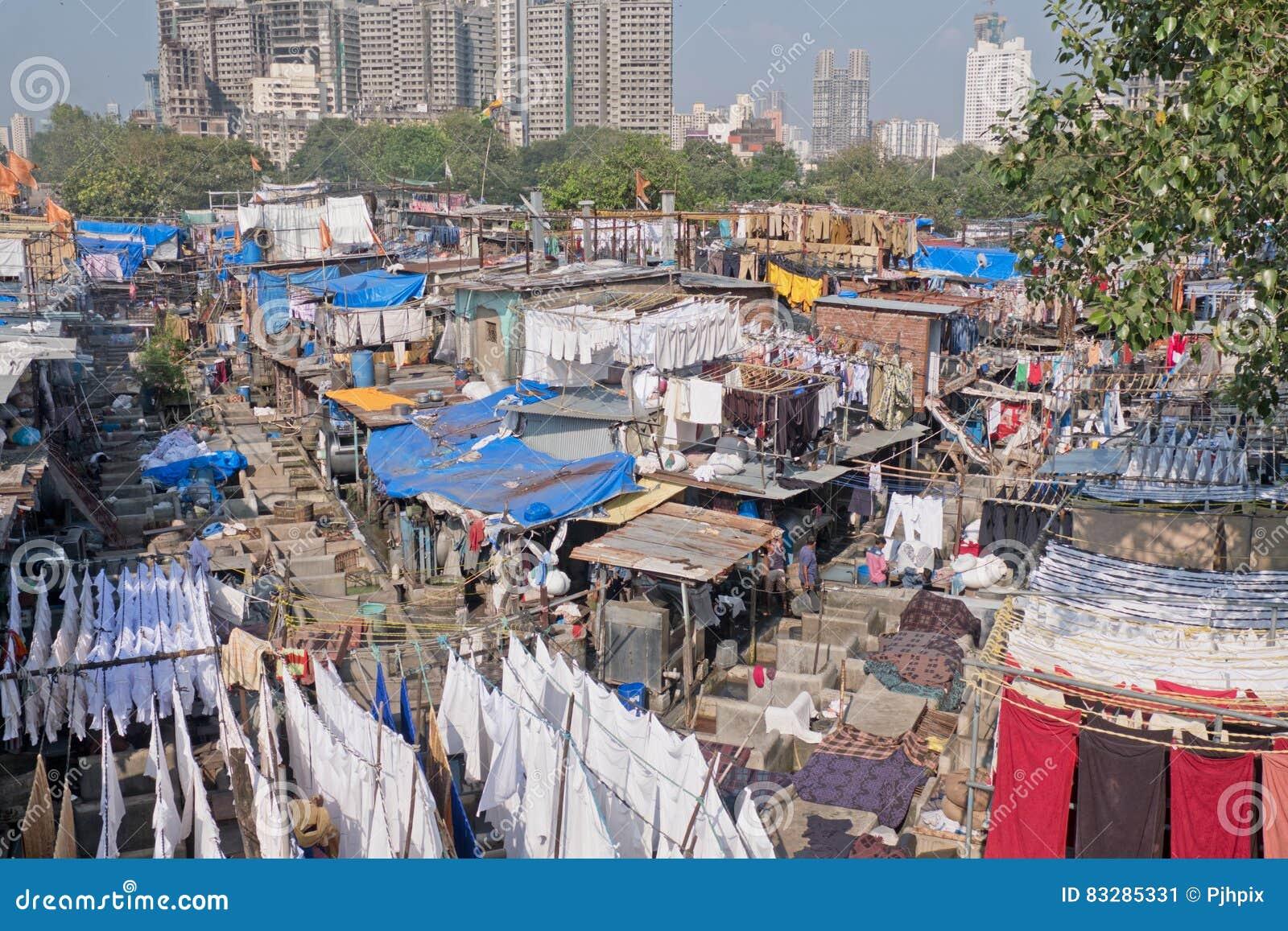 Blanchisserie extérieure dans Mumbai