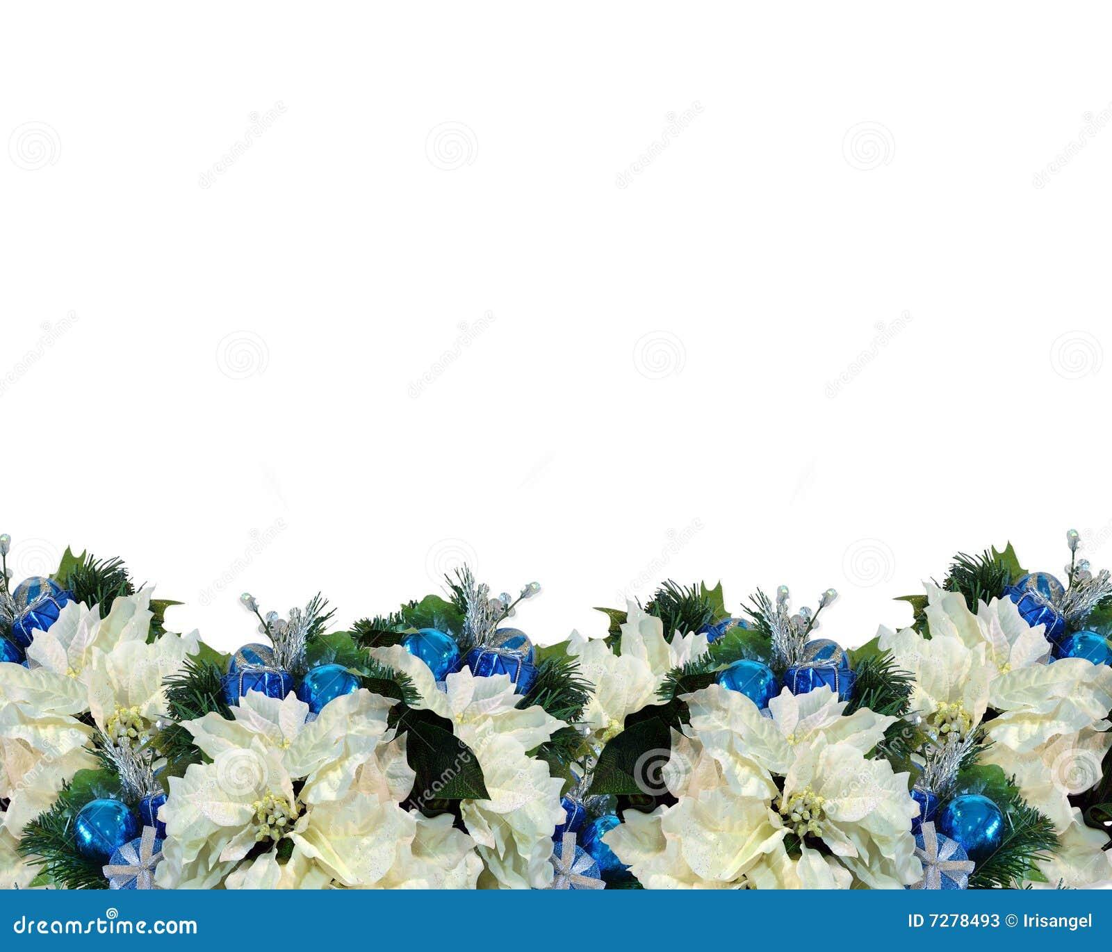 Blanco azul de la frontera de la Navidad