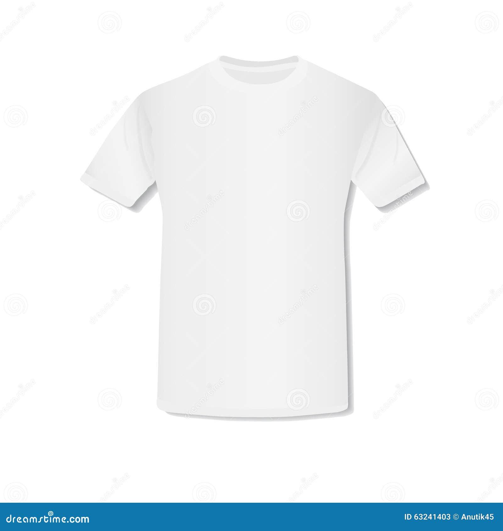 1b605dd6d Ejemplo del vector de la camiseta blanca vacía