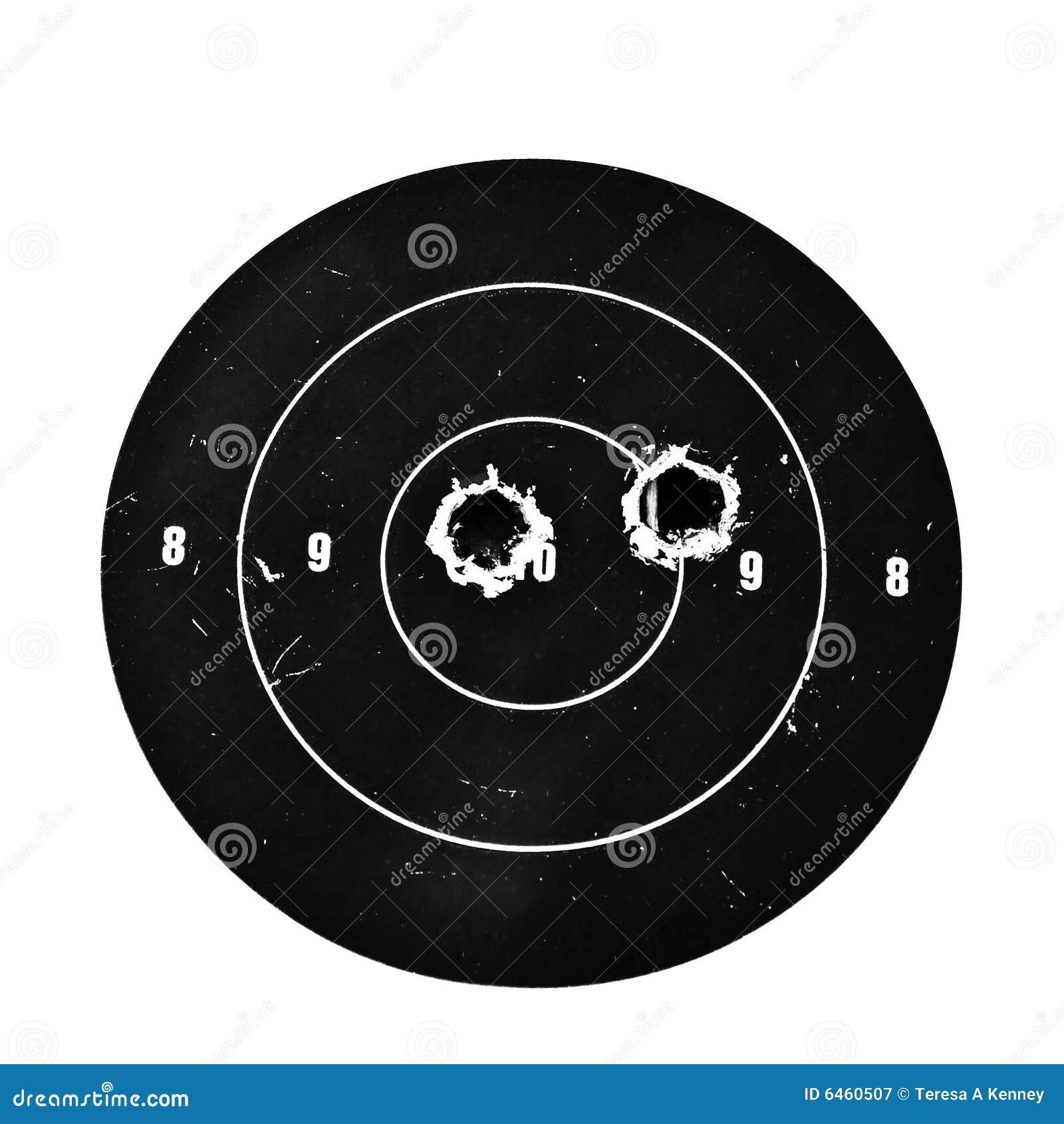 Blanco con los agujeros de punto negro