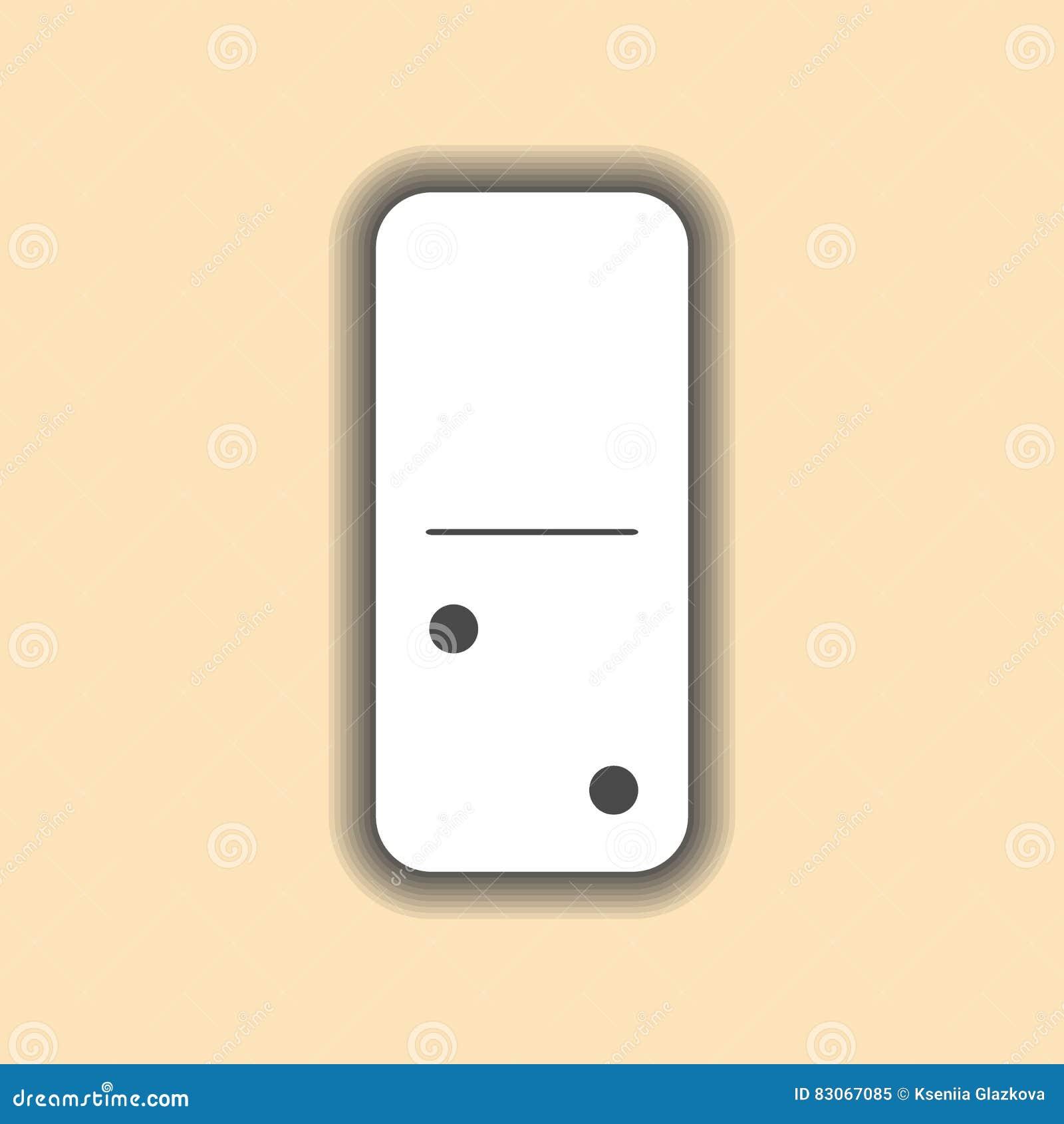 Blanco del dominó y fondo cero a dos
