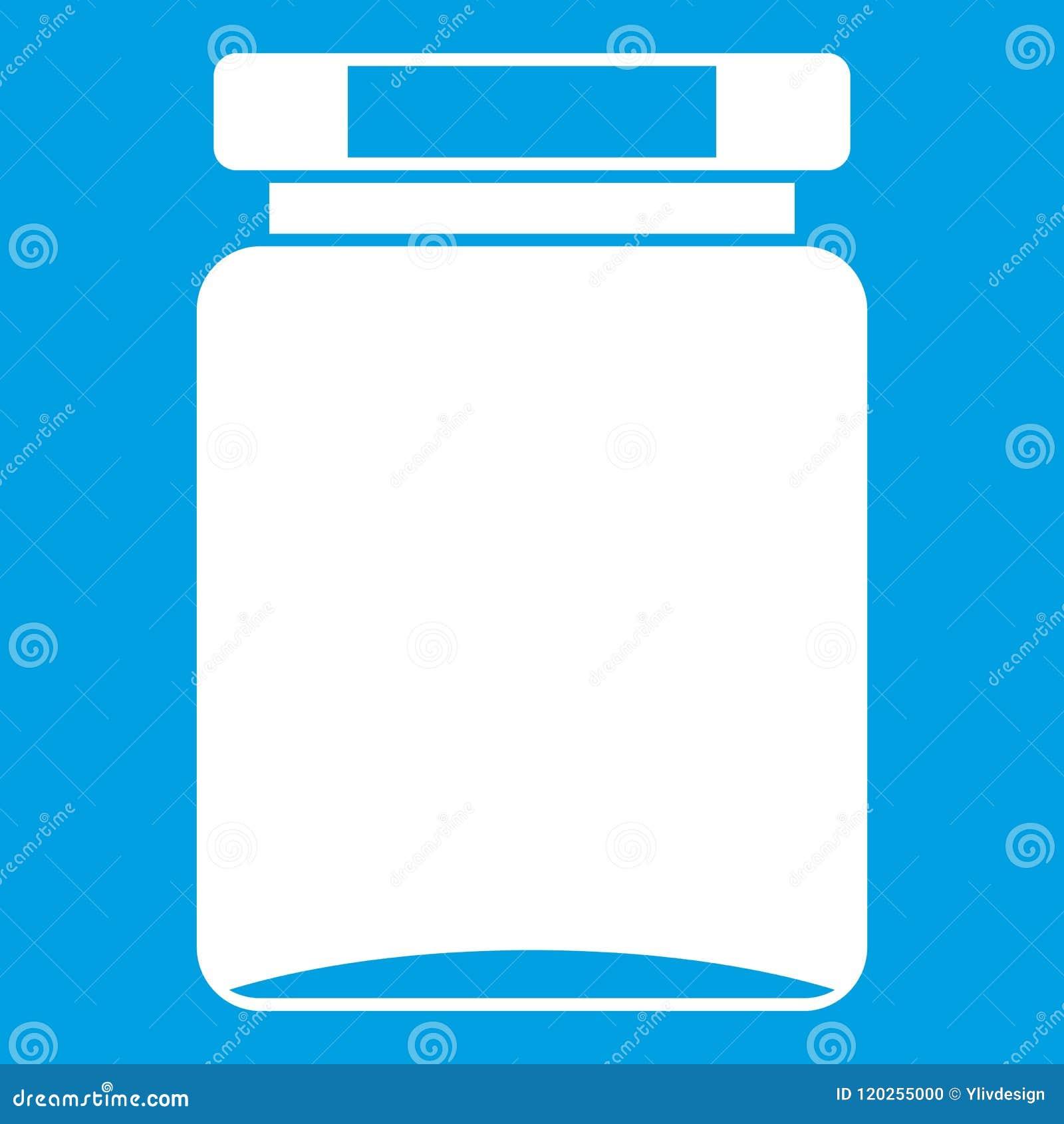 Blanco del icono del tarro