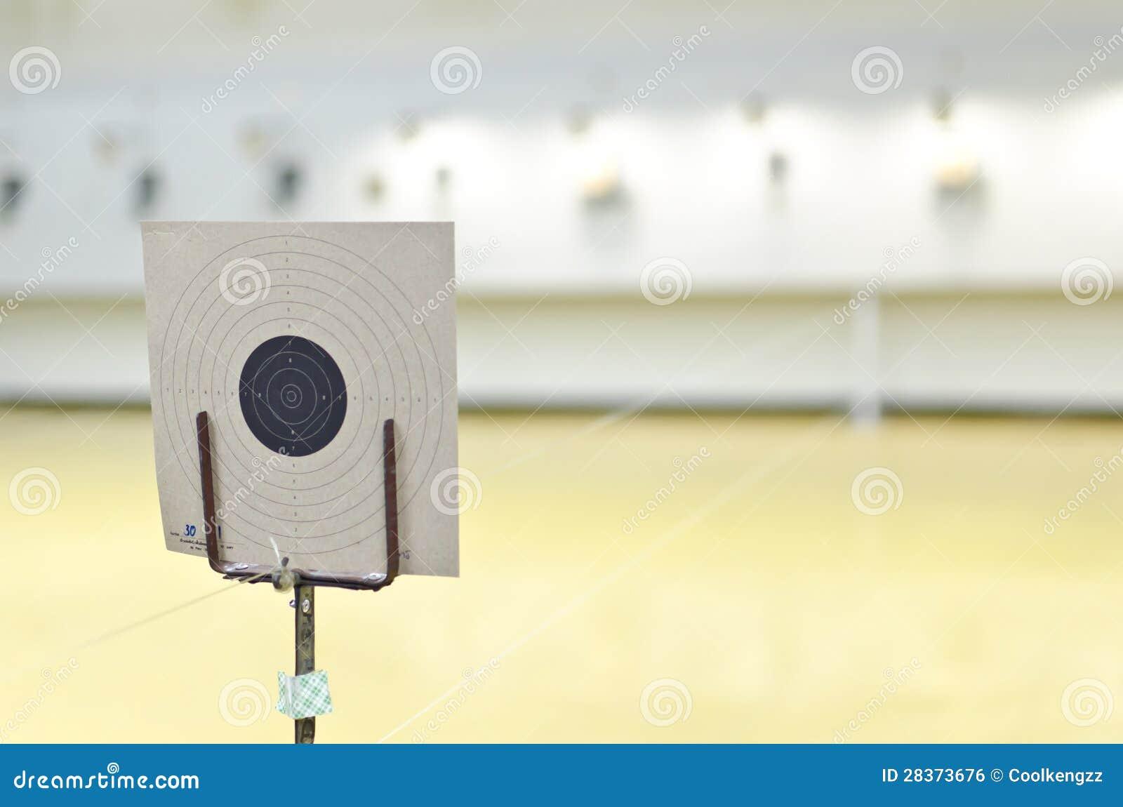 Blanco del tiroteo del arma