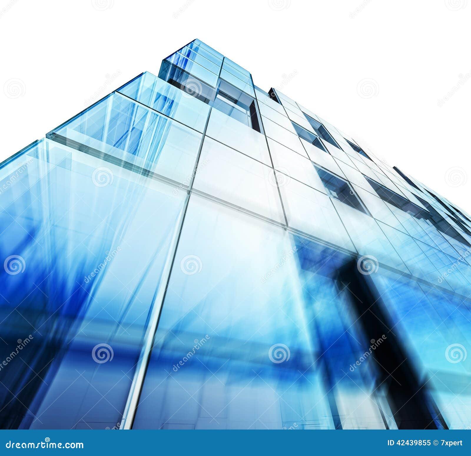 Blanco moderno del edificio aislado
