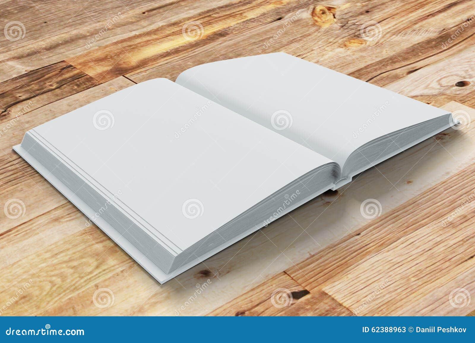 Blanco pagina s van geopende agenda op houten lijst