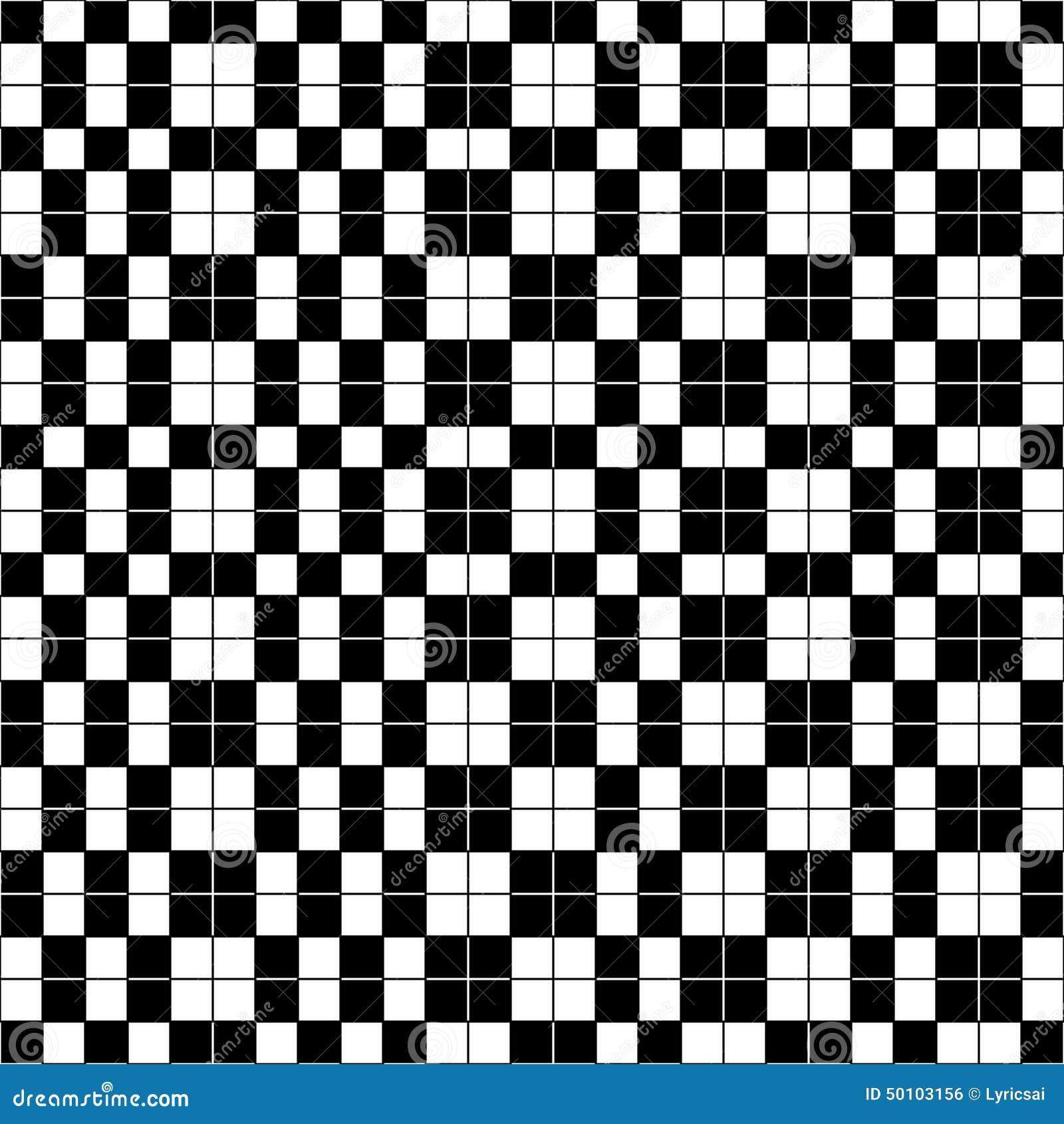 Blanco y negro a cuadros simple ilustraci n del vector - Papel de pared blanco y negro ...