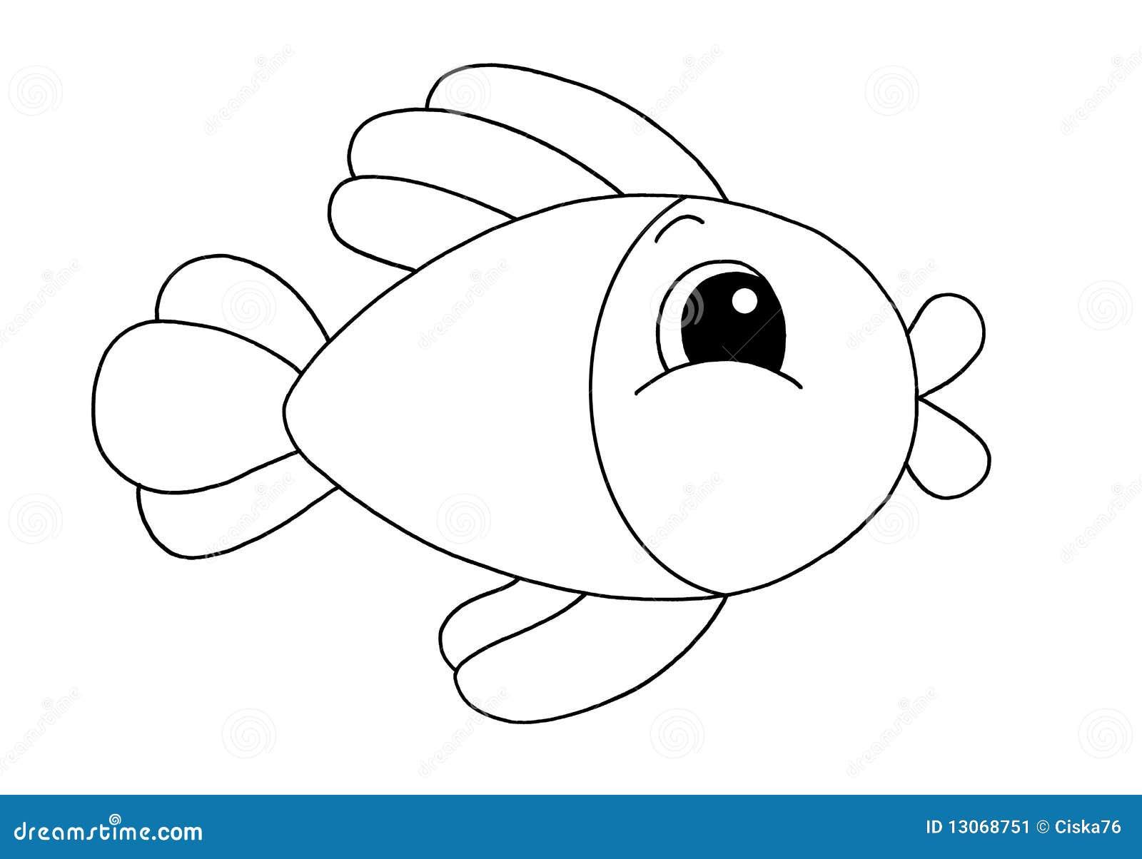 Blanco Y Negro Pescados Stock De Ilustración Ilustración De Para