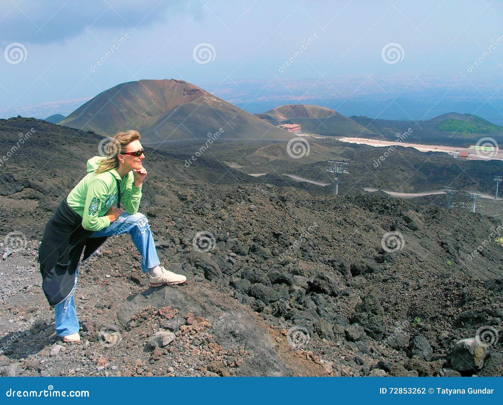 Bland kraterna av Etna